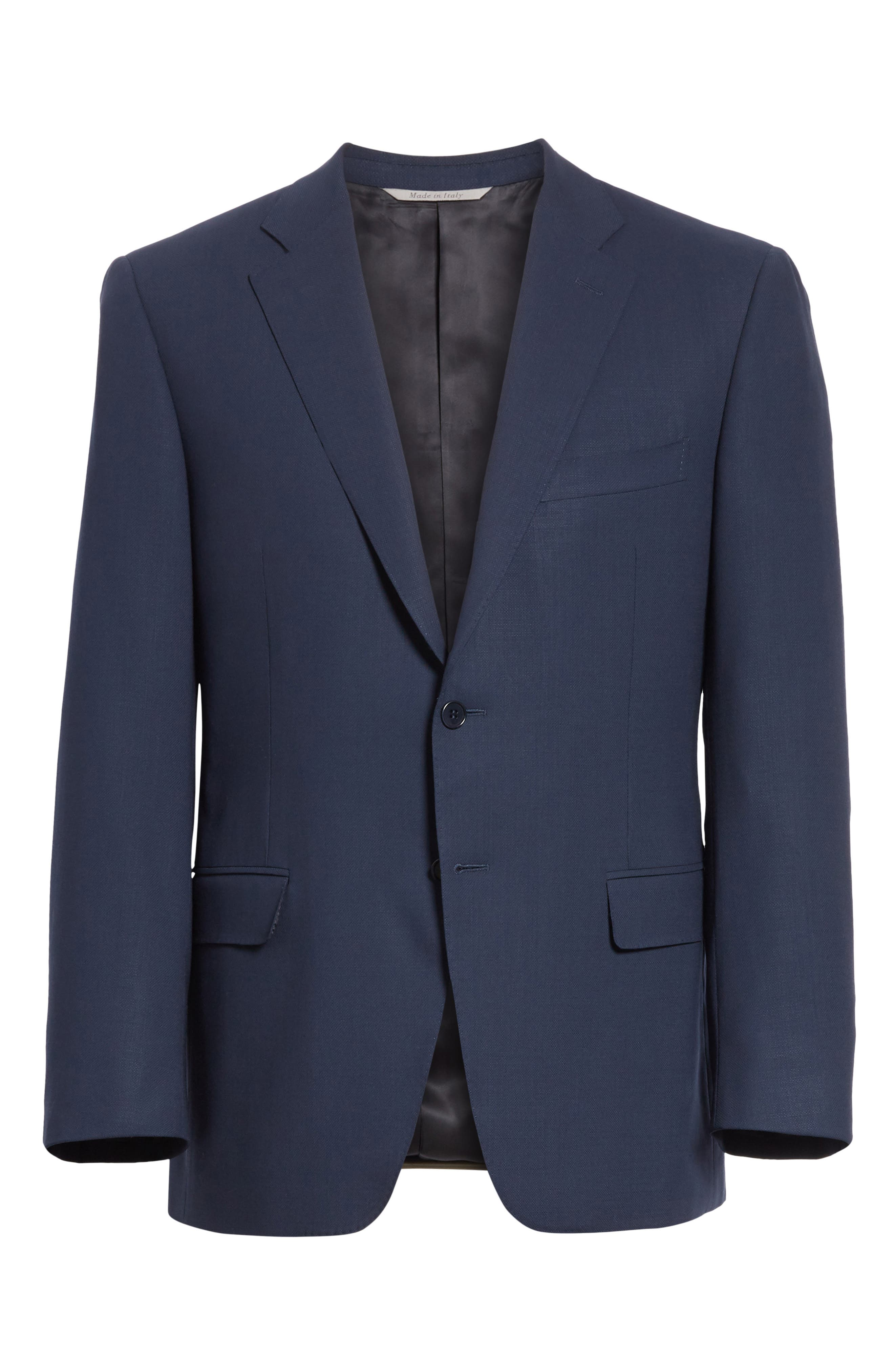 CANALI, Classic Fit Wool Blazer, Alternate thumbnail 5, color, NAVY