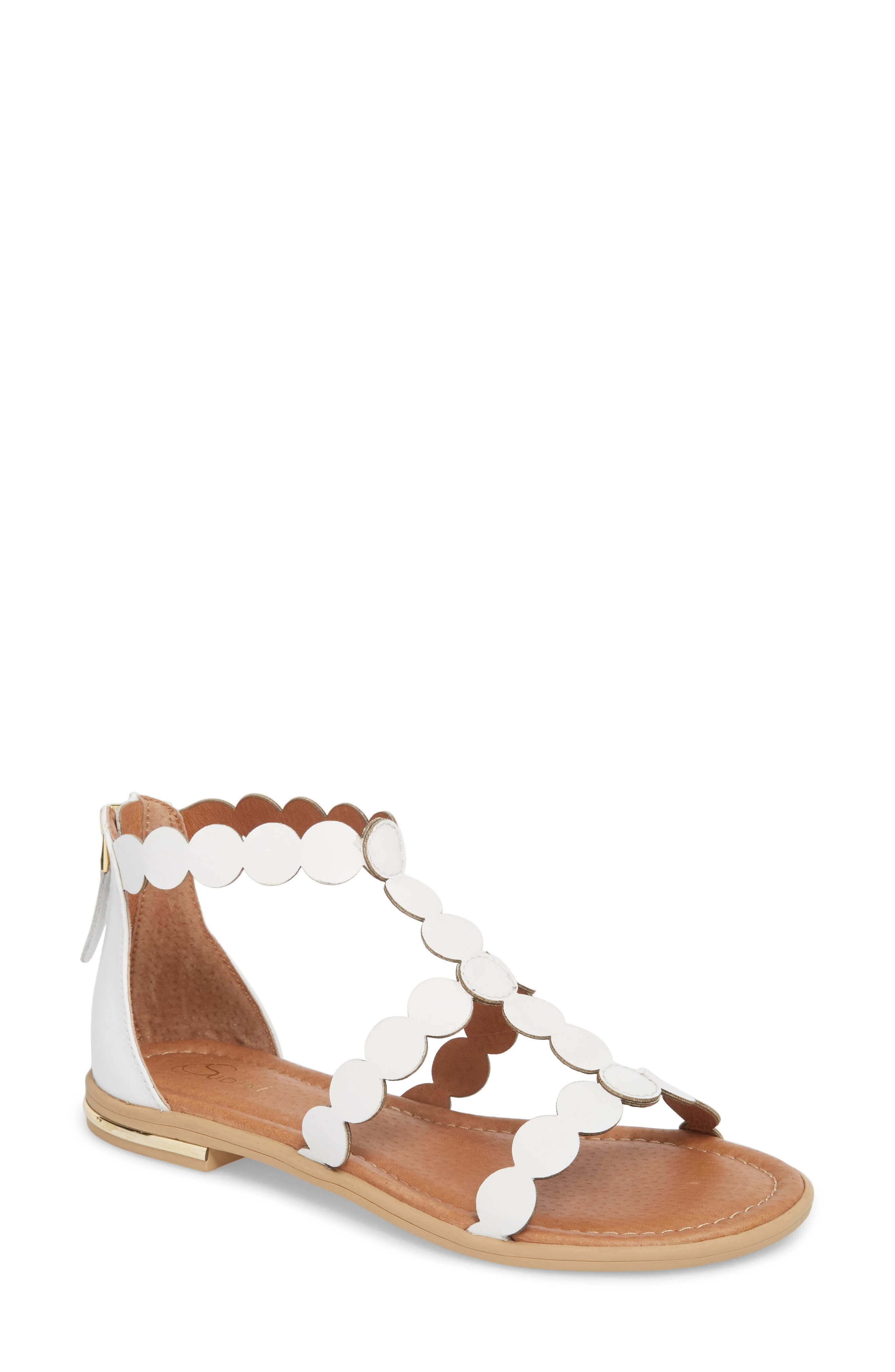SUDINI Rovigo Sandal, Main, color, WHITE SUEDE