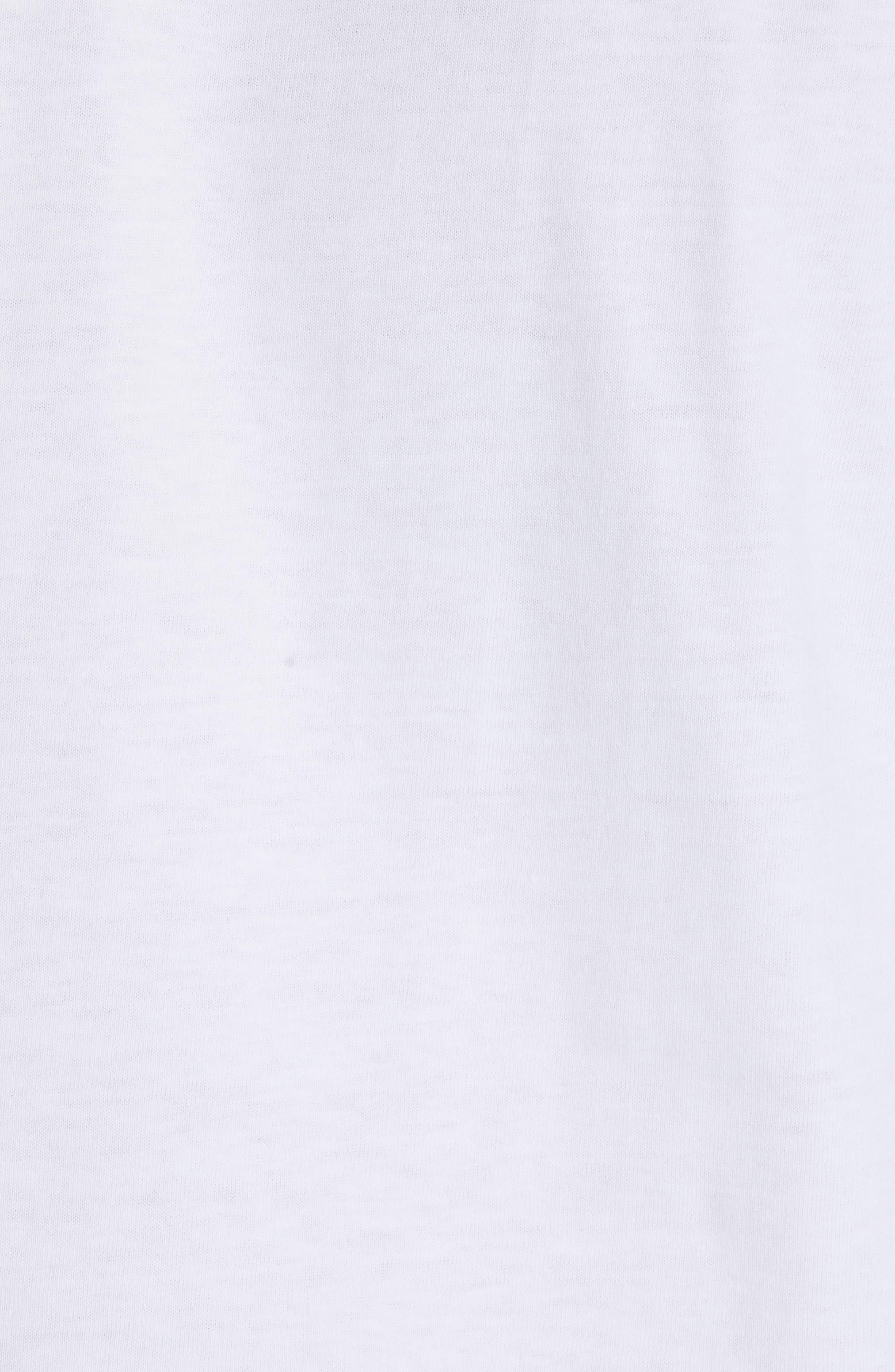 COMME DES GARÇONS PLAY, Black Heart T-Shirt, Alternate thumbnail 5, color, WHITE