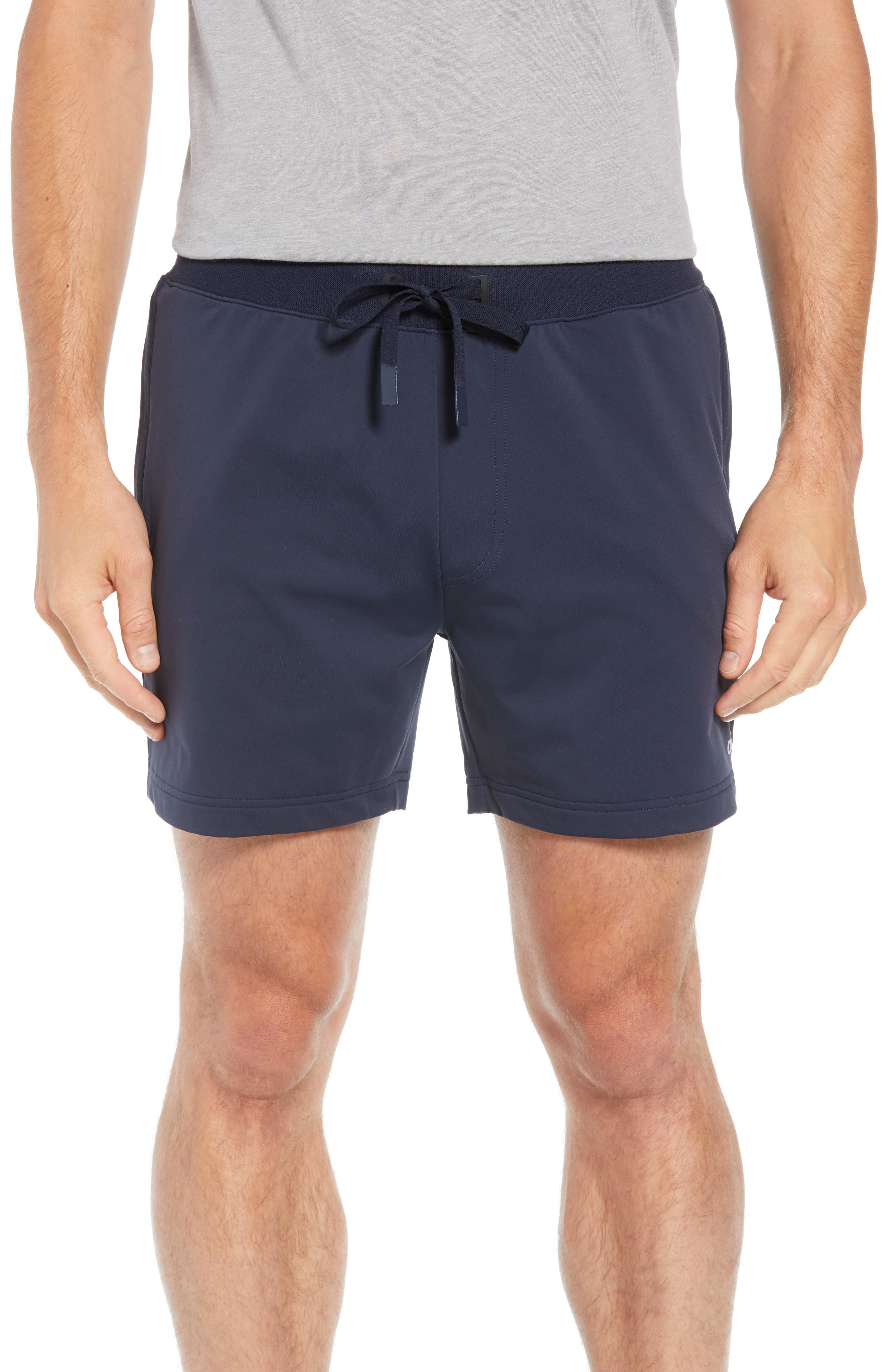 ALO Regenerate Shorts, Main, color, DARK NAVY TRIBLEND