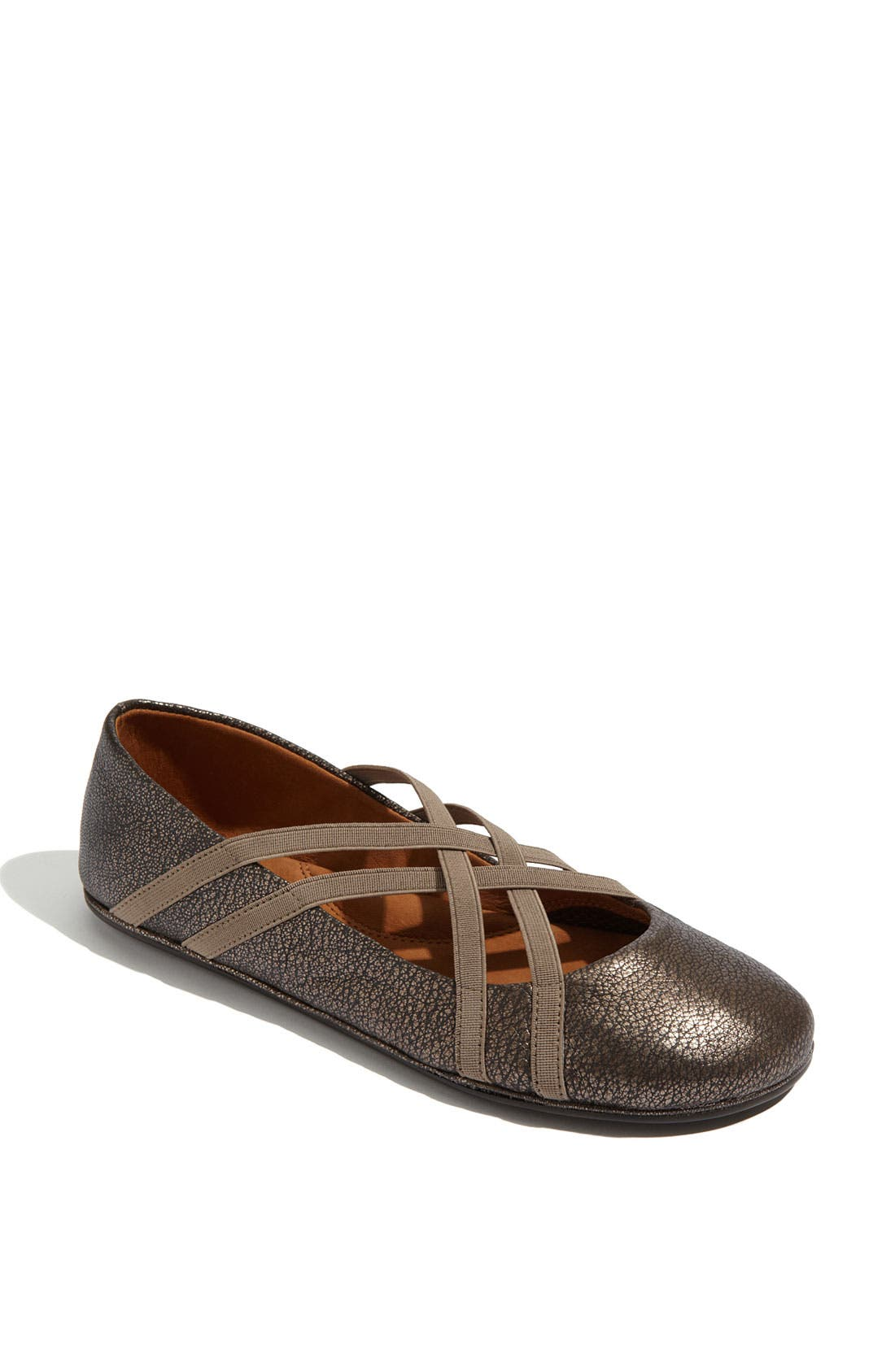 GENTLE SOULS BY KENNETH COLE 'Bay Braid' Flat, Main, color, ANTIQUE PEWTER