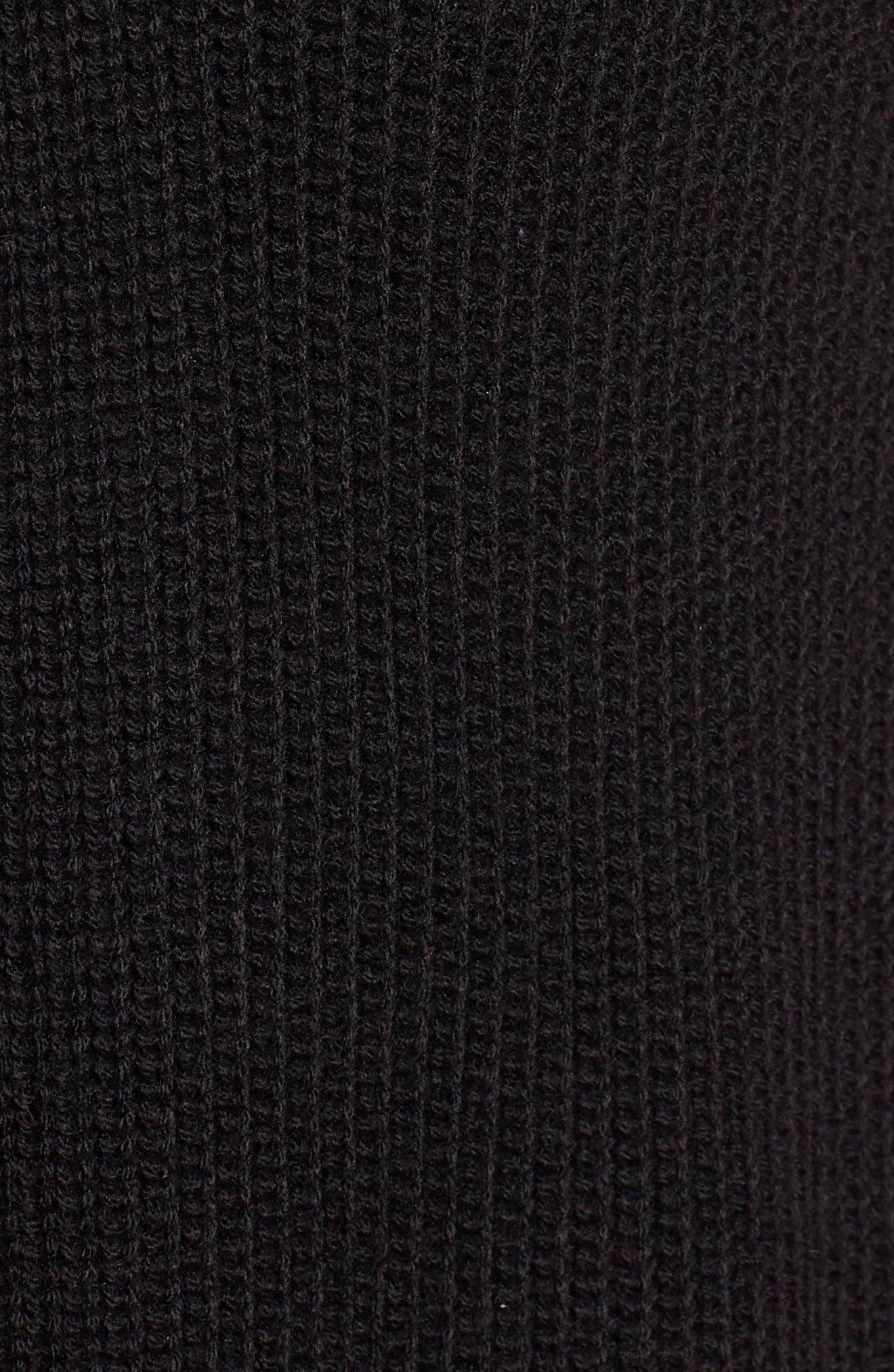 HALOGEN<SUP>®</SUP>, Long Ribbed Cardigan, Alternate thumbnail 5, color, BLACK