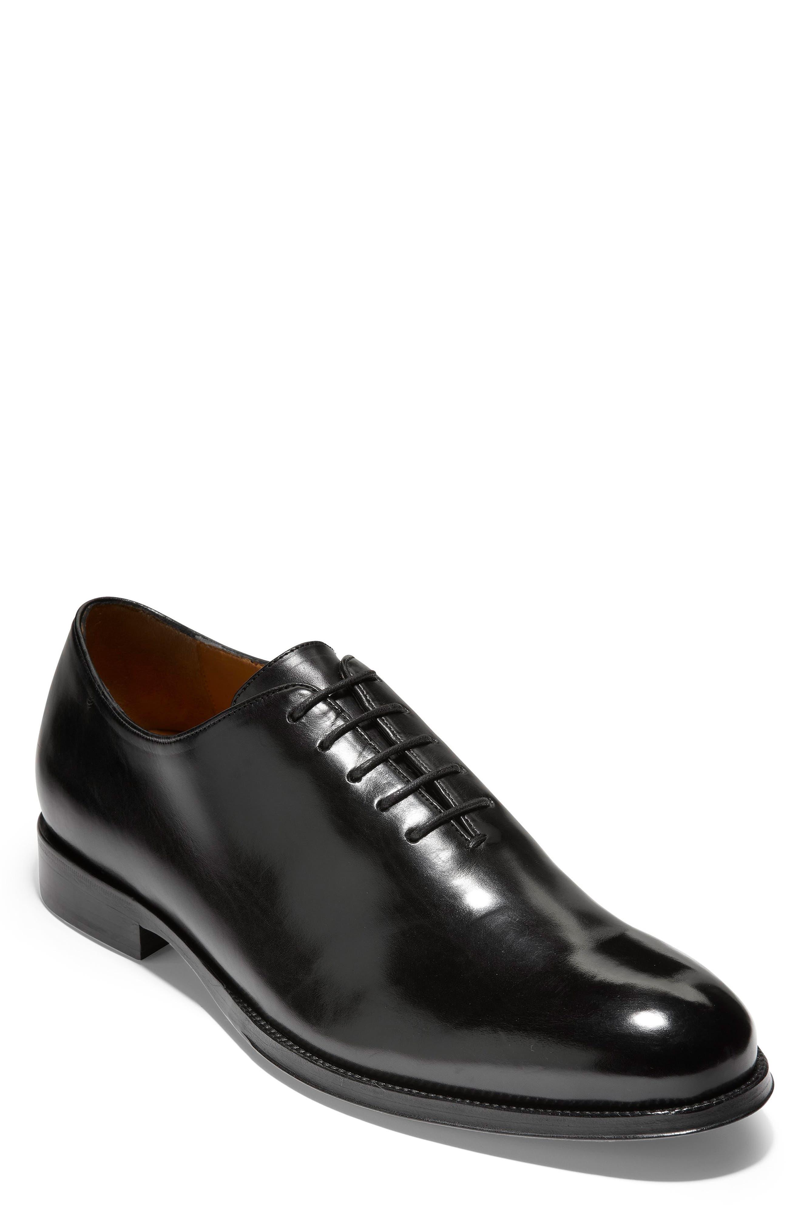 COLE HAAN, American Classics Gramercy Whole Cut Shoe, Main thumbnail 1, color, BLACK LEATHER