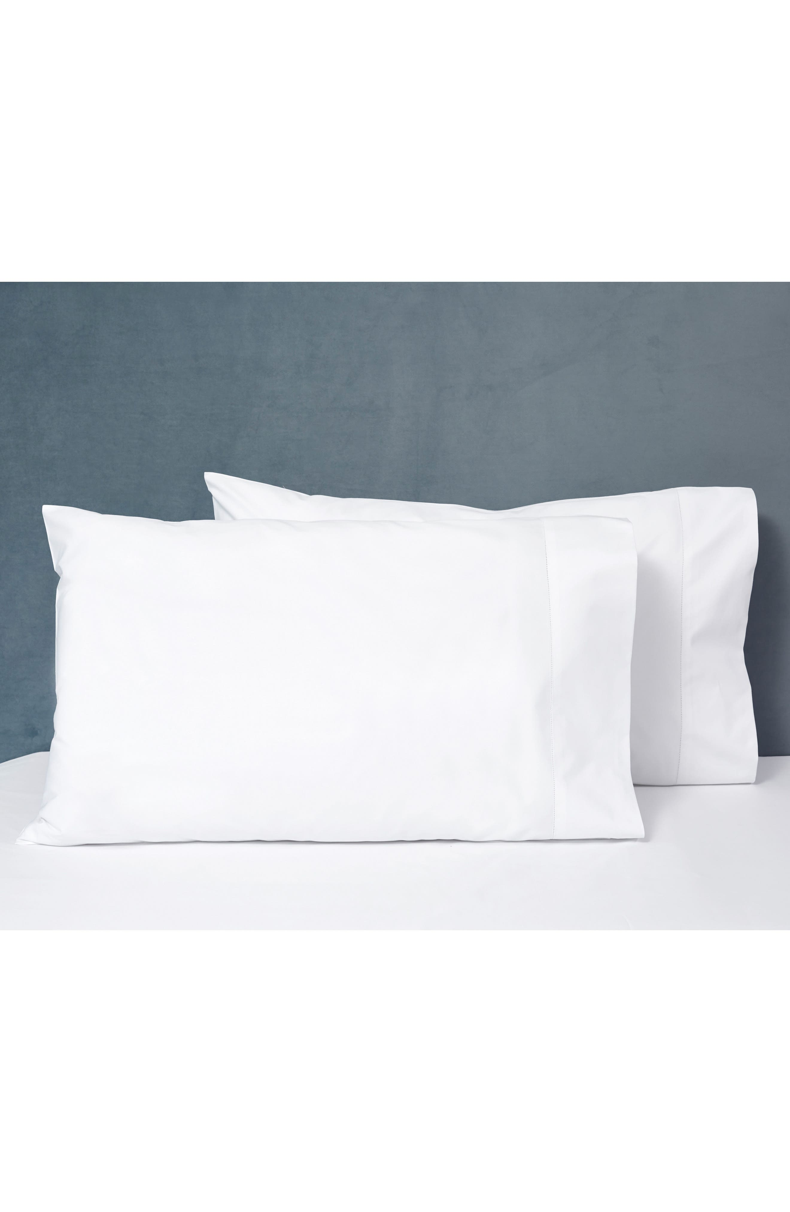 SIGNORIA FIRENZE, Tuscan Dreams 400 Thread Count Set of 2 Pillowcases, Alternate thumbnail 4, color, WHITE