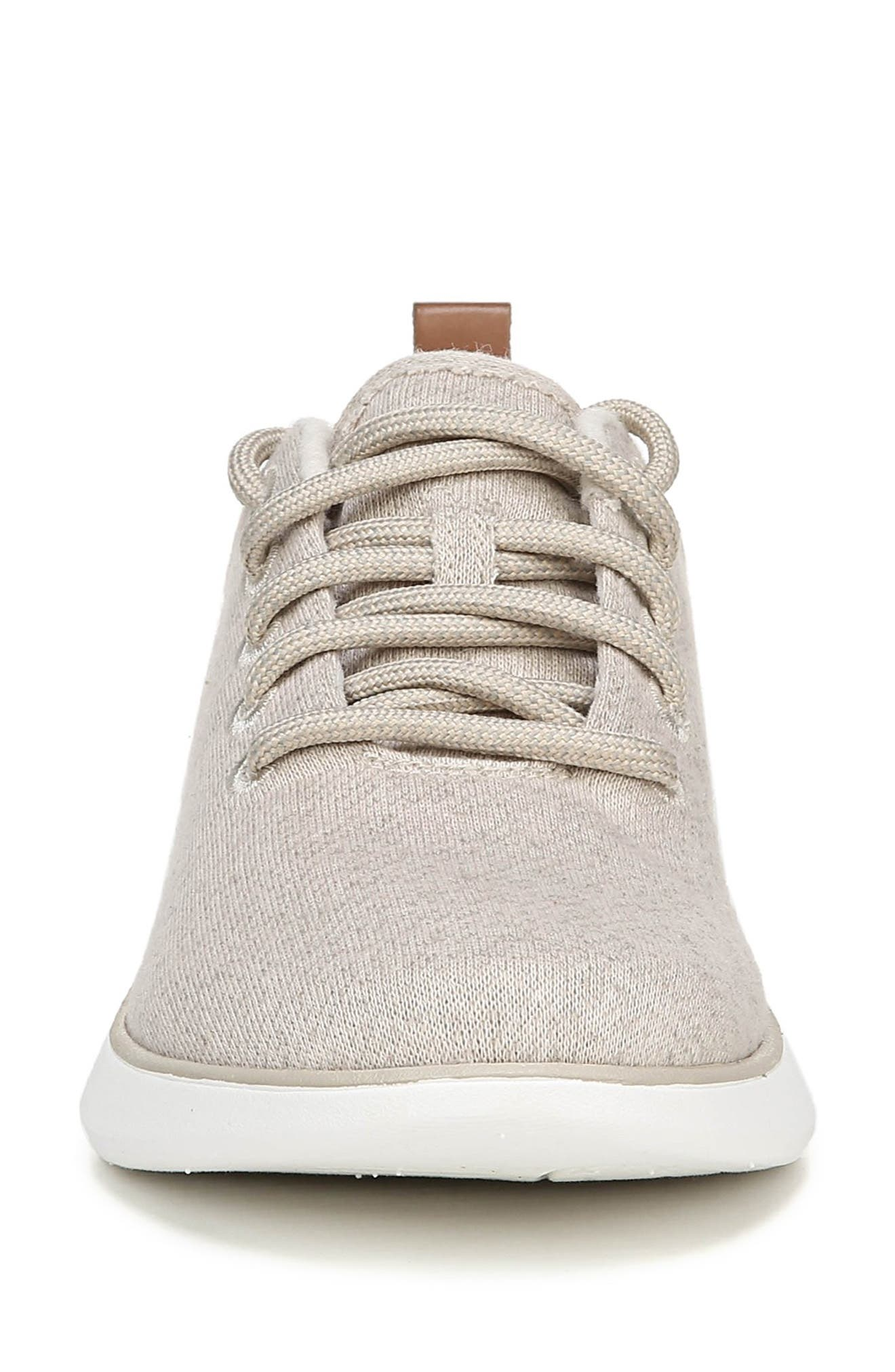 DR. SCHOLL'S, Freestep Sneaker, Alternate thumbnail 4, color, BEIGE FABRIC