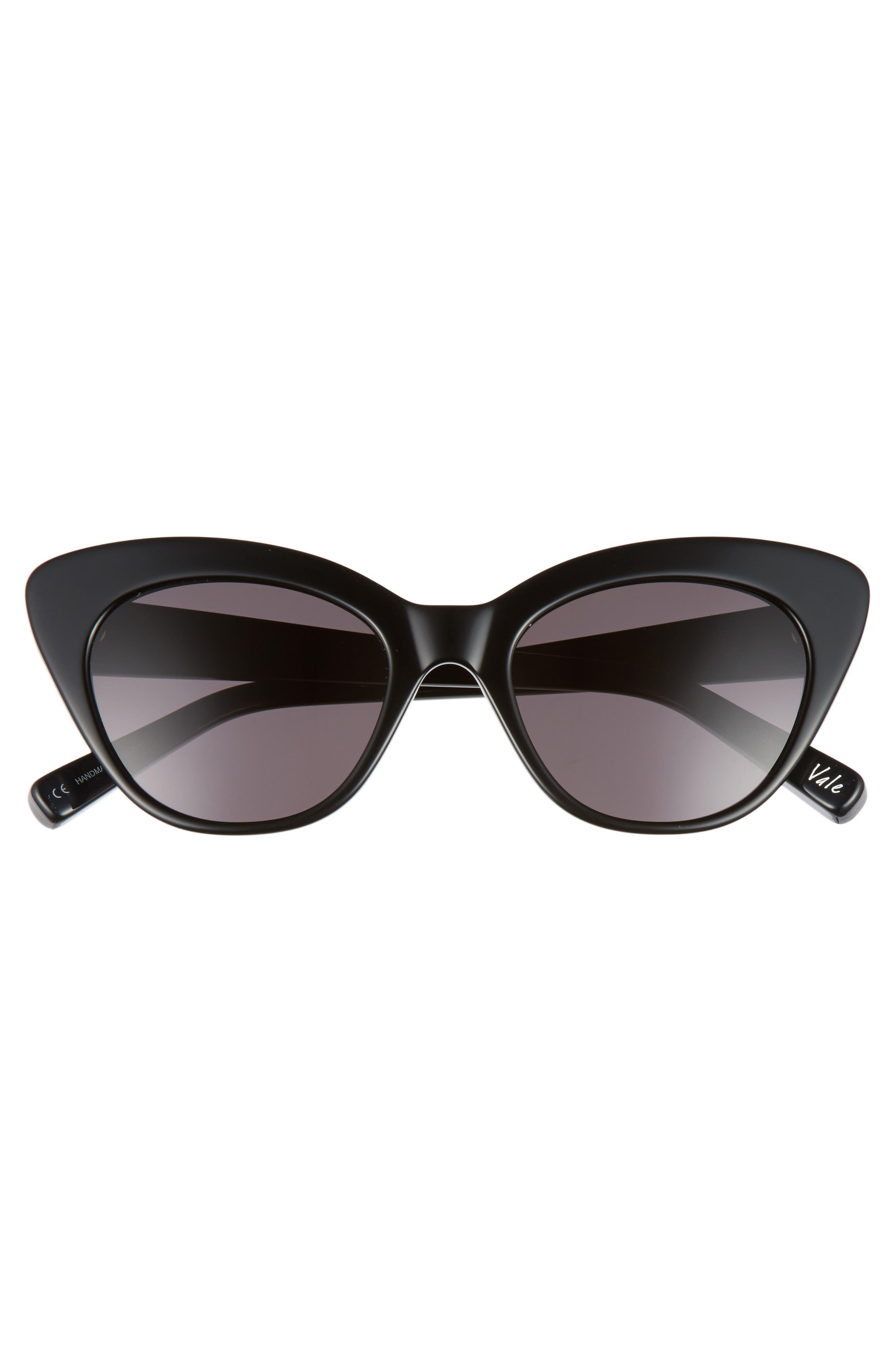 ELIZABETH AND JAMES, Vale 52mm Cat Eye Sunglasses, Alternate thumbnail 3, color, 020