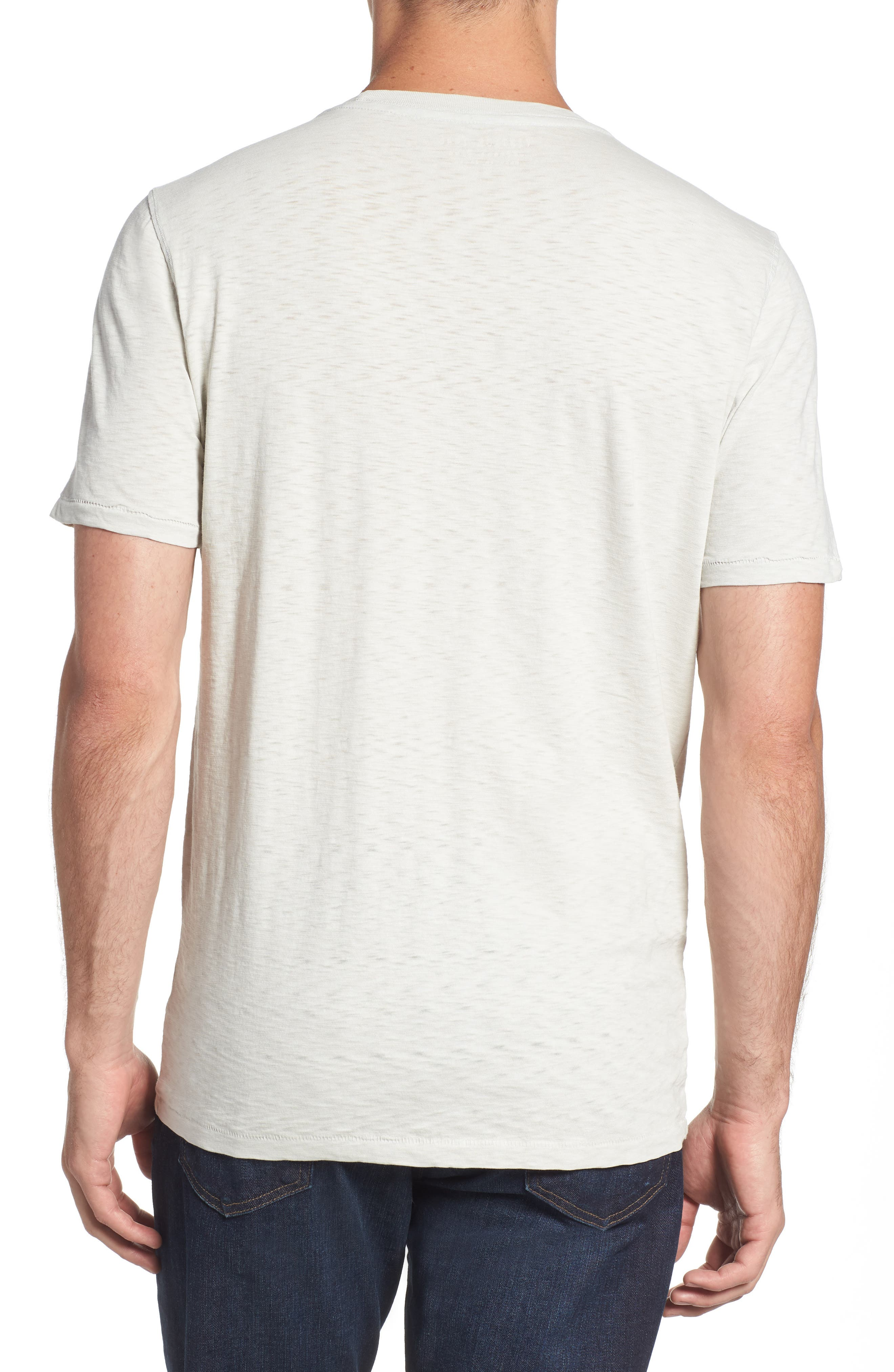 VINTAGE 1946, Negative Slub Knit T-Shirt, Alternate thumbnail 2, color, SMOKE