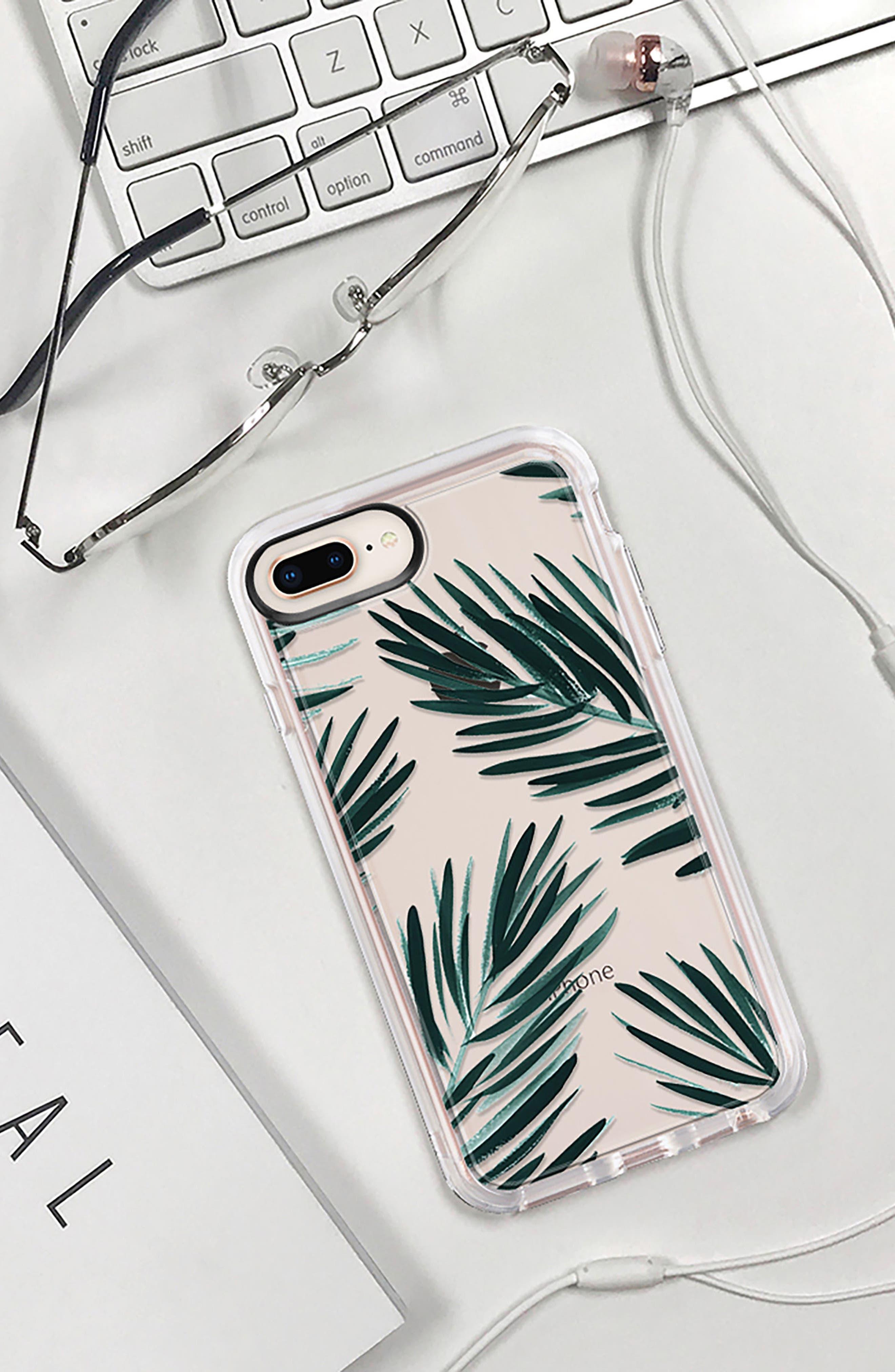 CASETIFY, Palm Fronds iPhone 7/8 & 7/8 Plus Case, Alternate thumbnail 9, color, GREEN