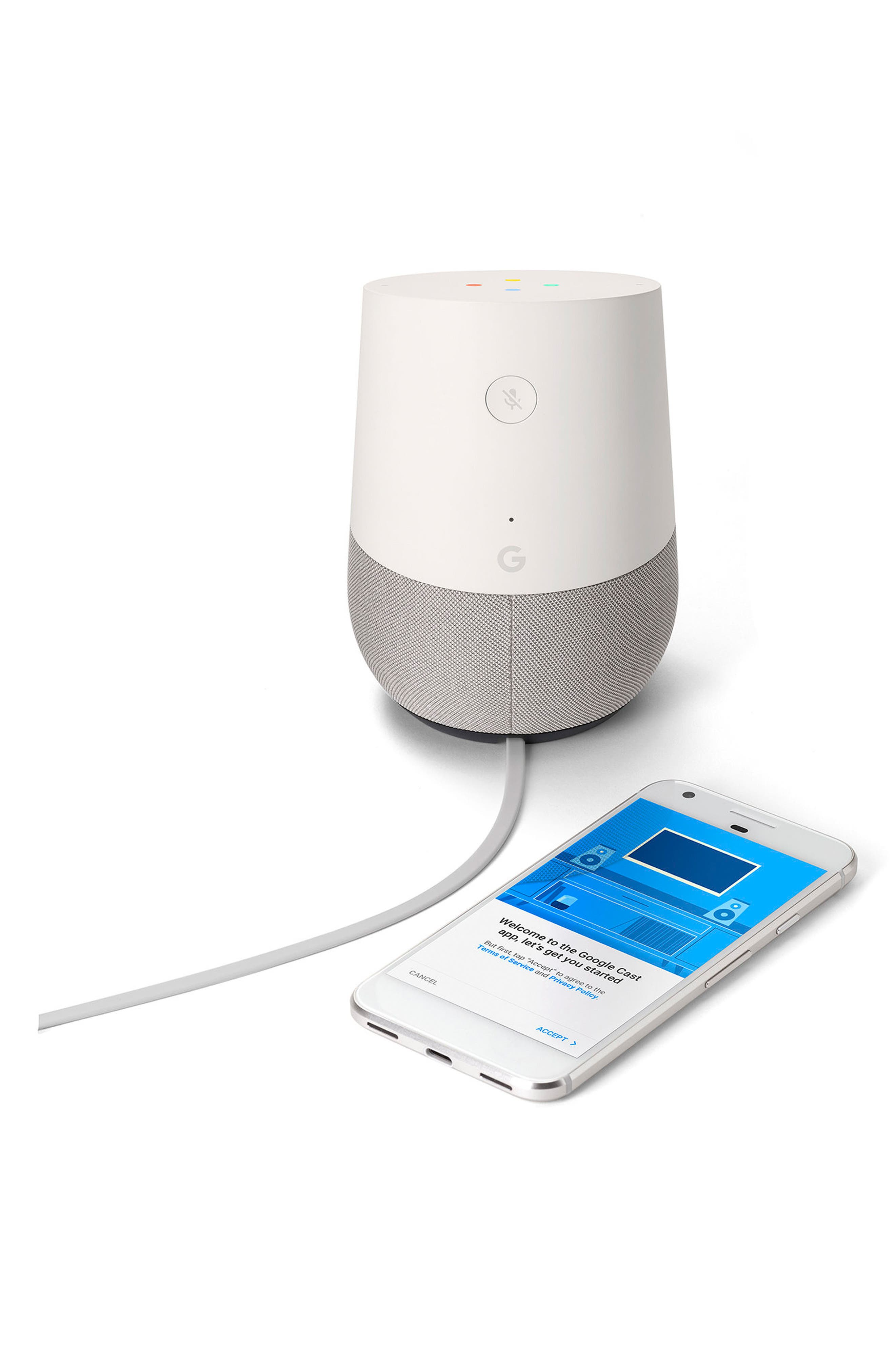 GOOGLE, Home Voice Activated Speaker, Alternate thumbnail 2, color, 100