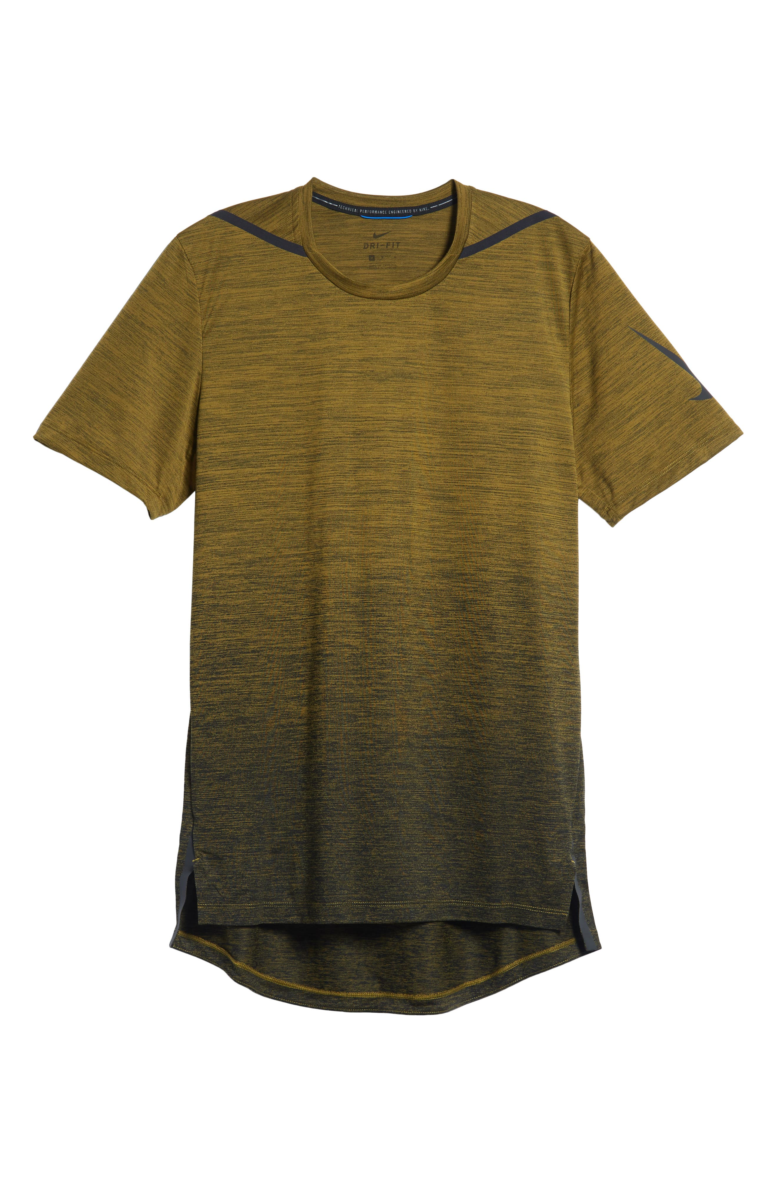 NIKE, Dry Max Training T-Shirt, Alternate thumbnail 6, color, OLIVE FLAK/ BLACK/ COBALT