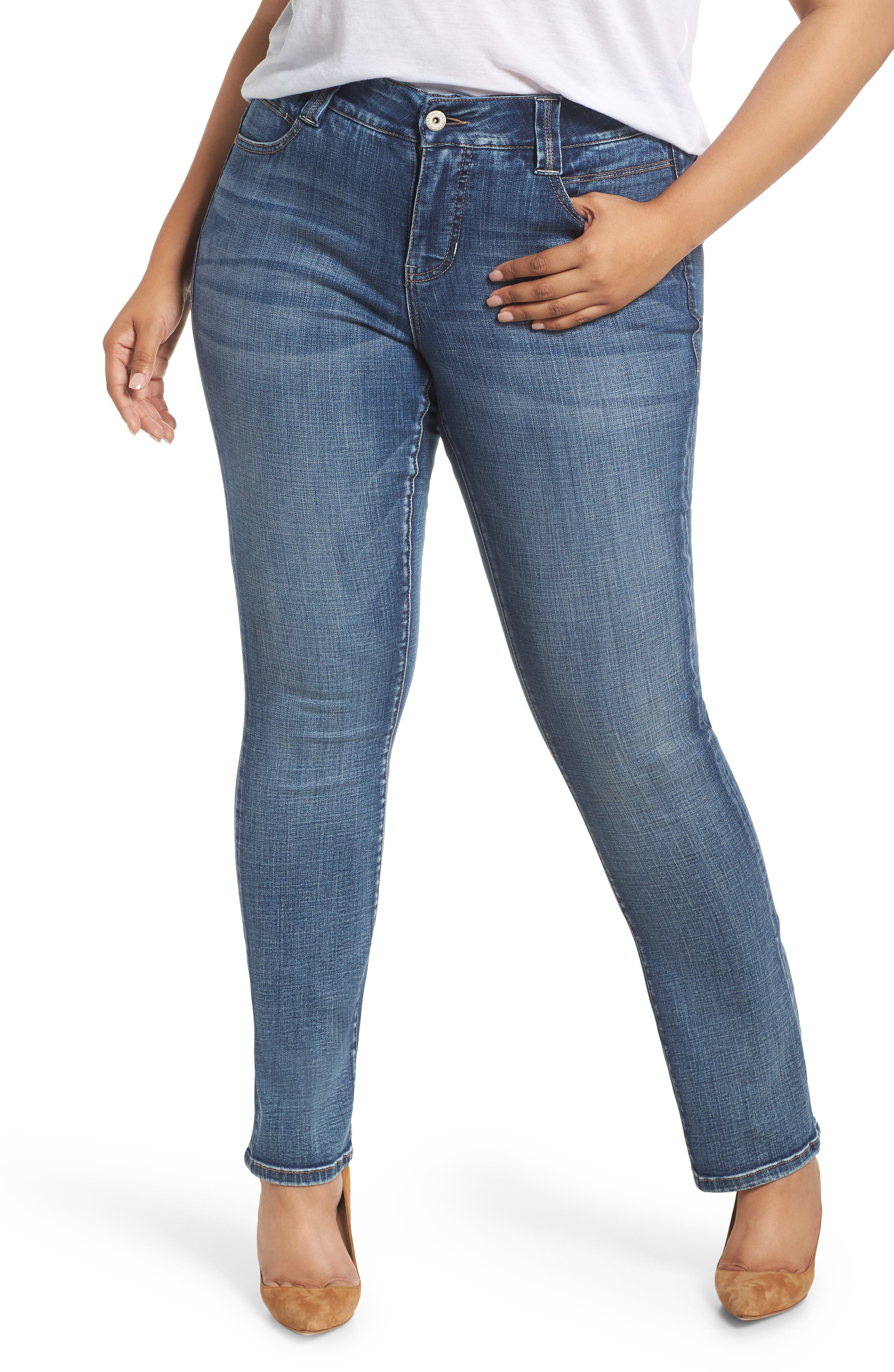 JAG JEANS, Eloise Bootcut Stretch Jeans, Main thumbnail 1, color, MED INDIGO