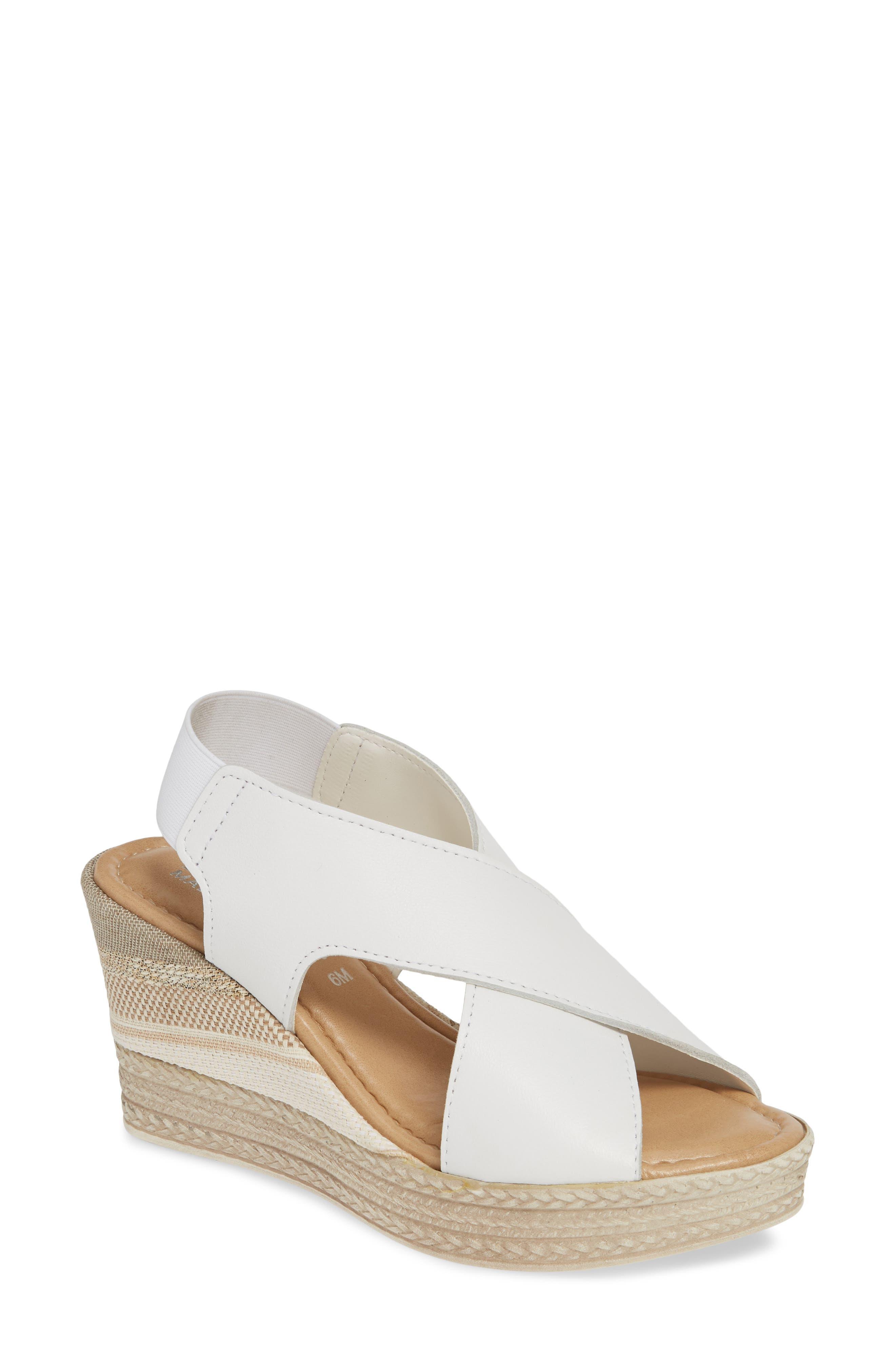 Bella Vita Slingback Sandal, White