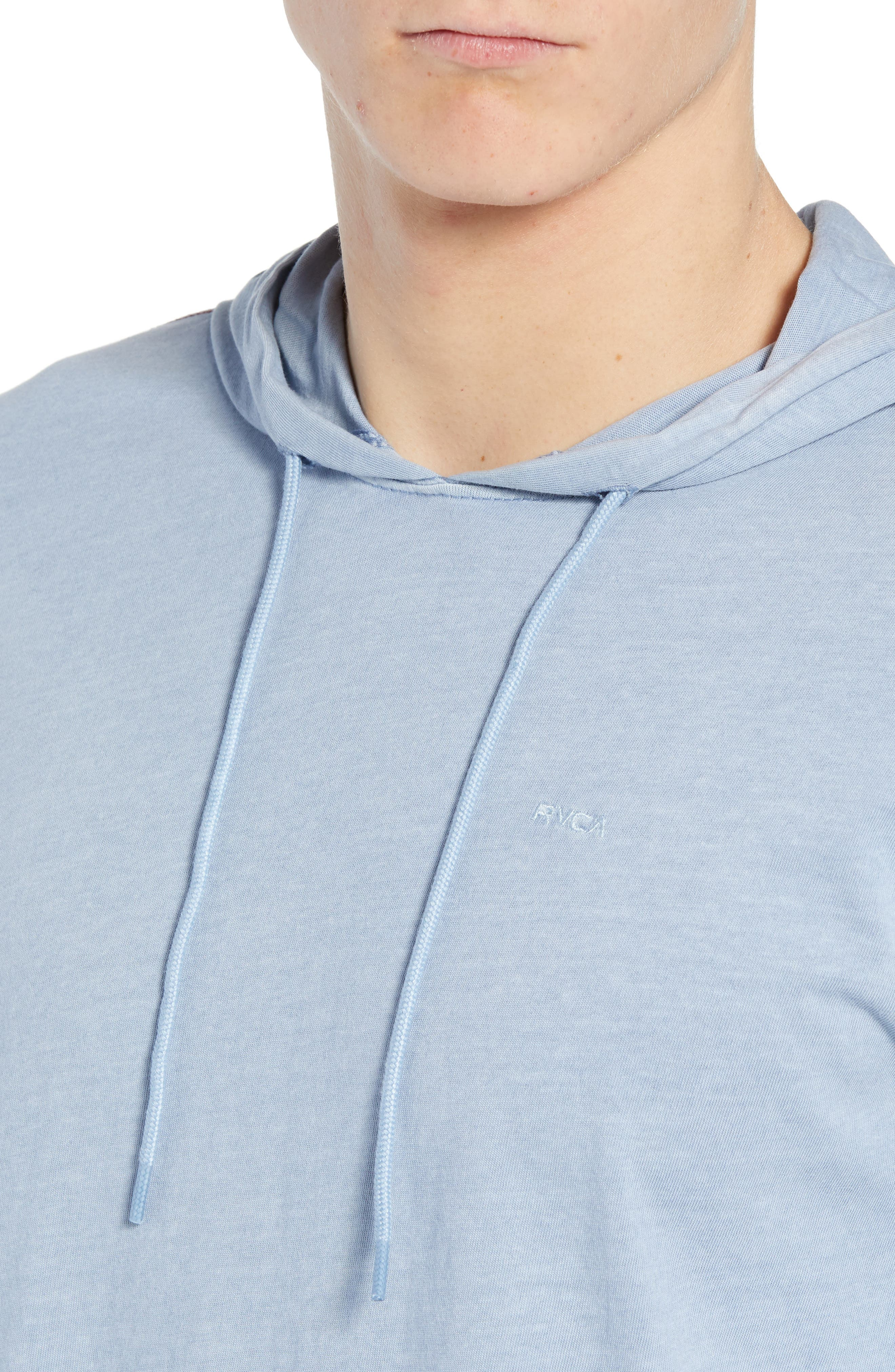 RVCA, PTC Cotton Hoodie, Alternate thumbnail 4, color, DUSTY BLUE