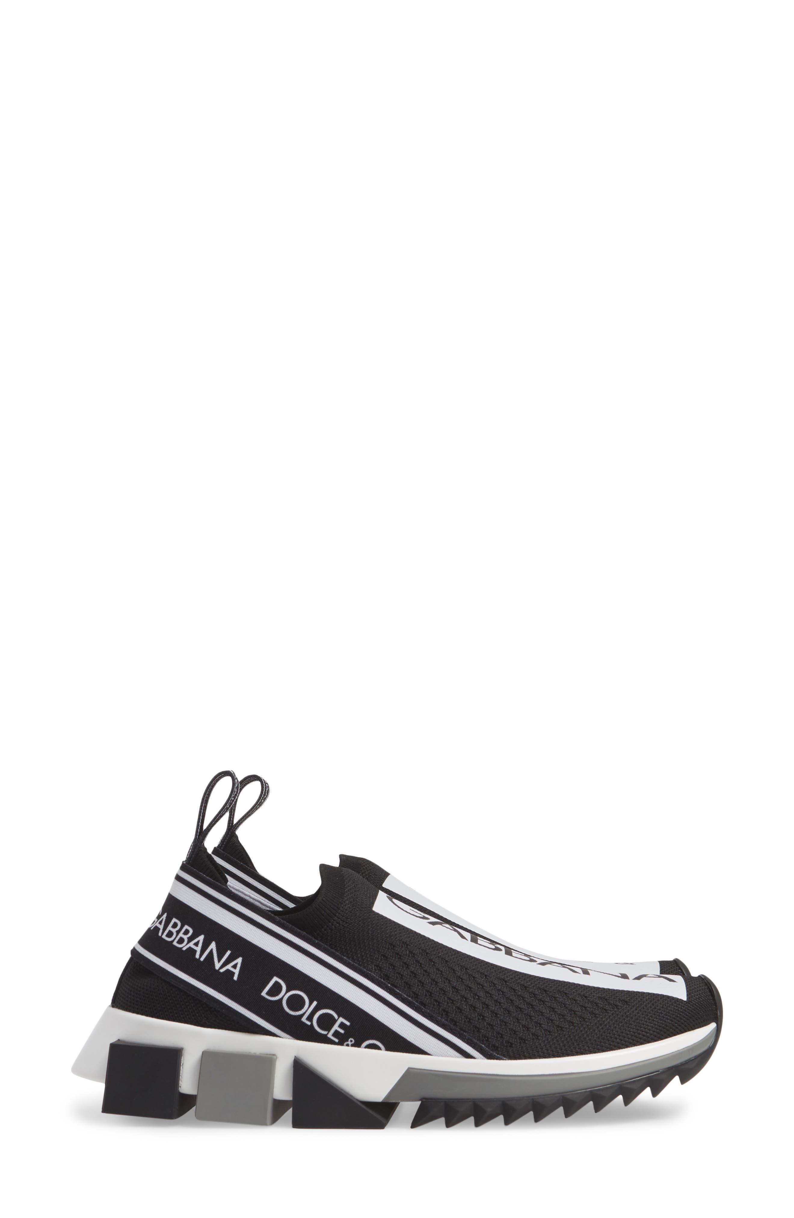 DOLCE&GABBANA, Sorrento Logo Slip-On Sneaker, Alternate thumbnail 4, color, 002