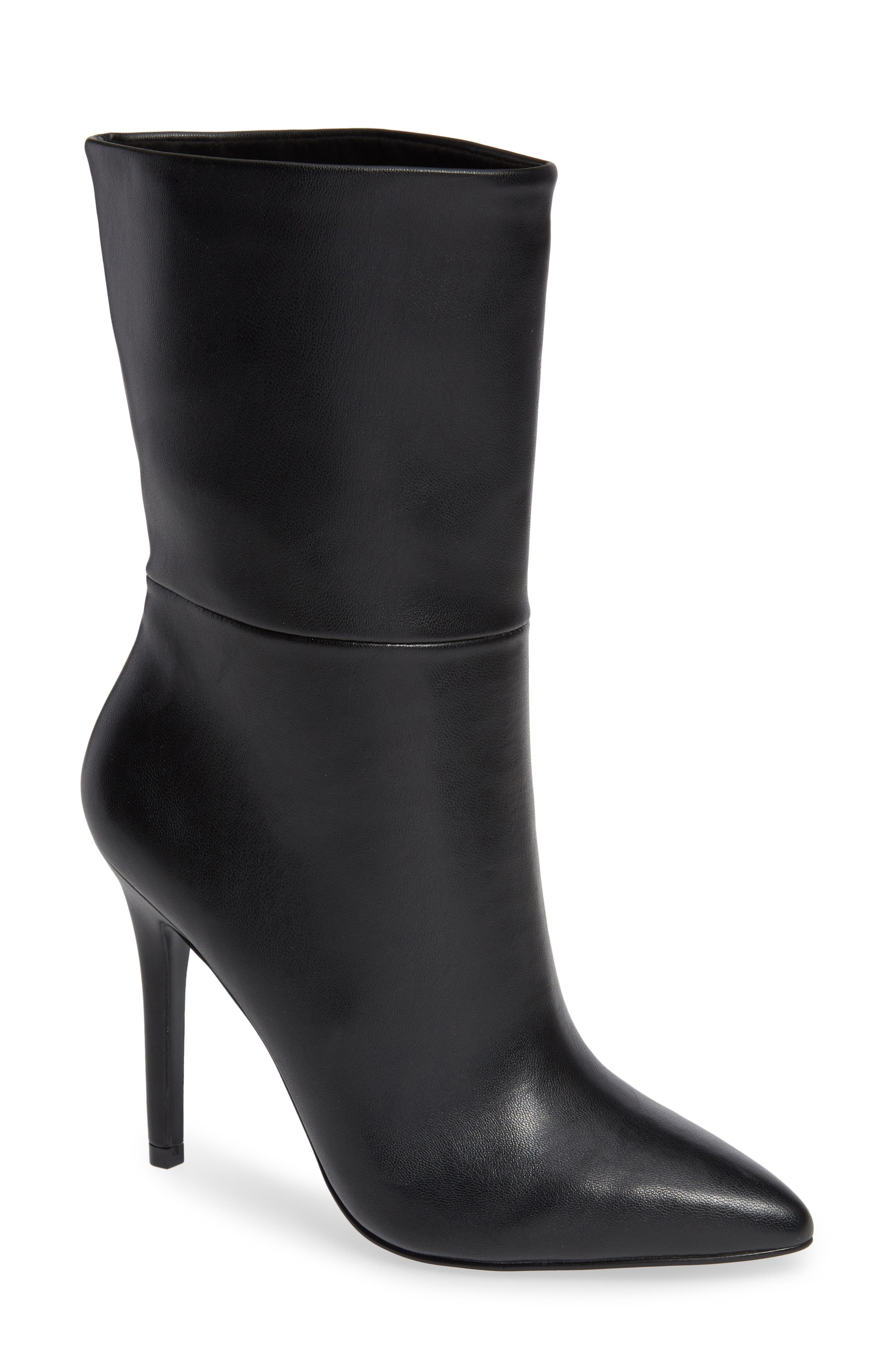 CHARLES BY CHARLES DAVID, Palisades Bootie, Main thumbnail 1, color, BLACK FAUX LEATHER