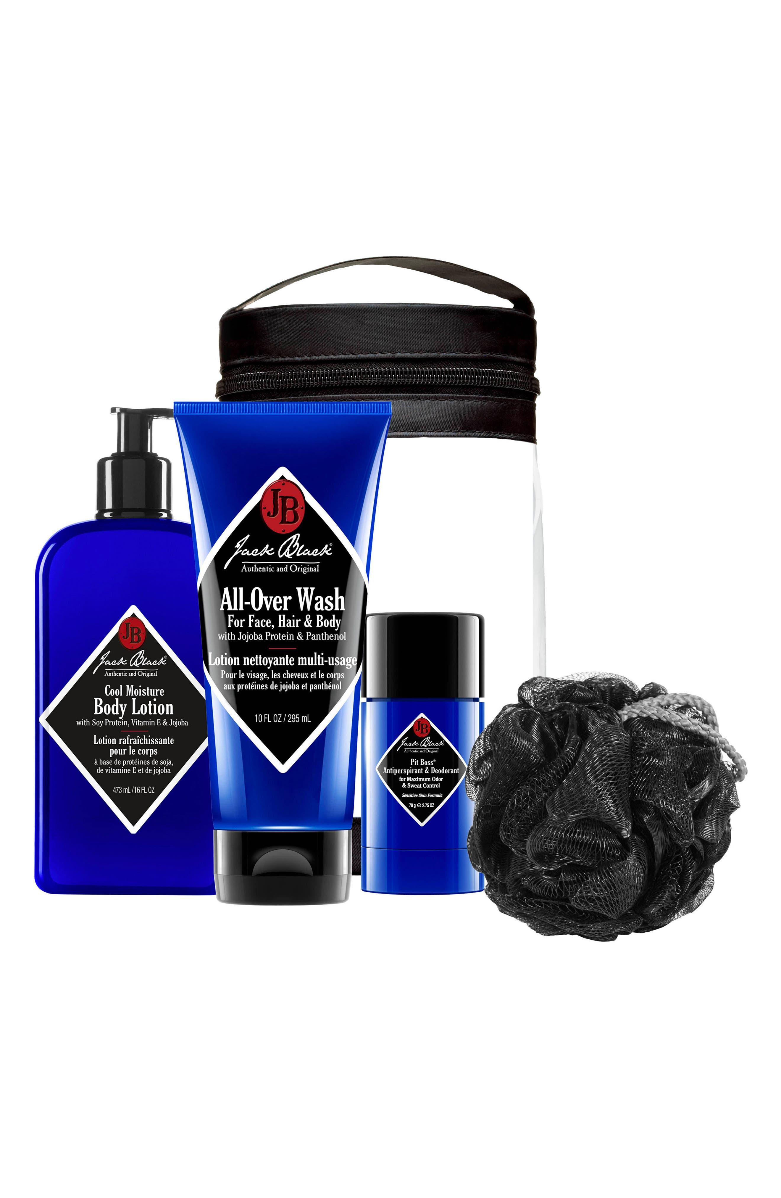 JACK BLACK, Clean & Cool Body Basics Kit, Main thumbnail 1, color, NO COLOR