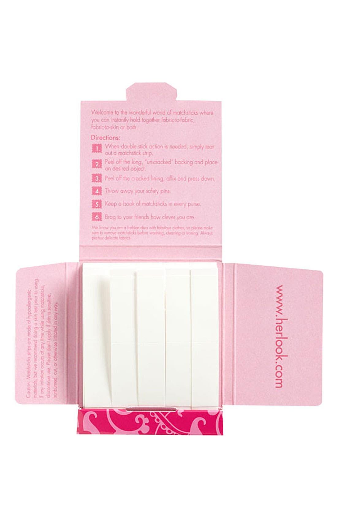COMMANDO 'Matchsticks Double Stick Tricks' Clothing Tape, Main, color, 000