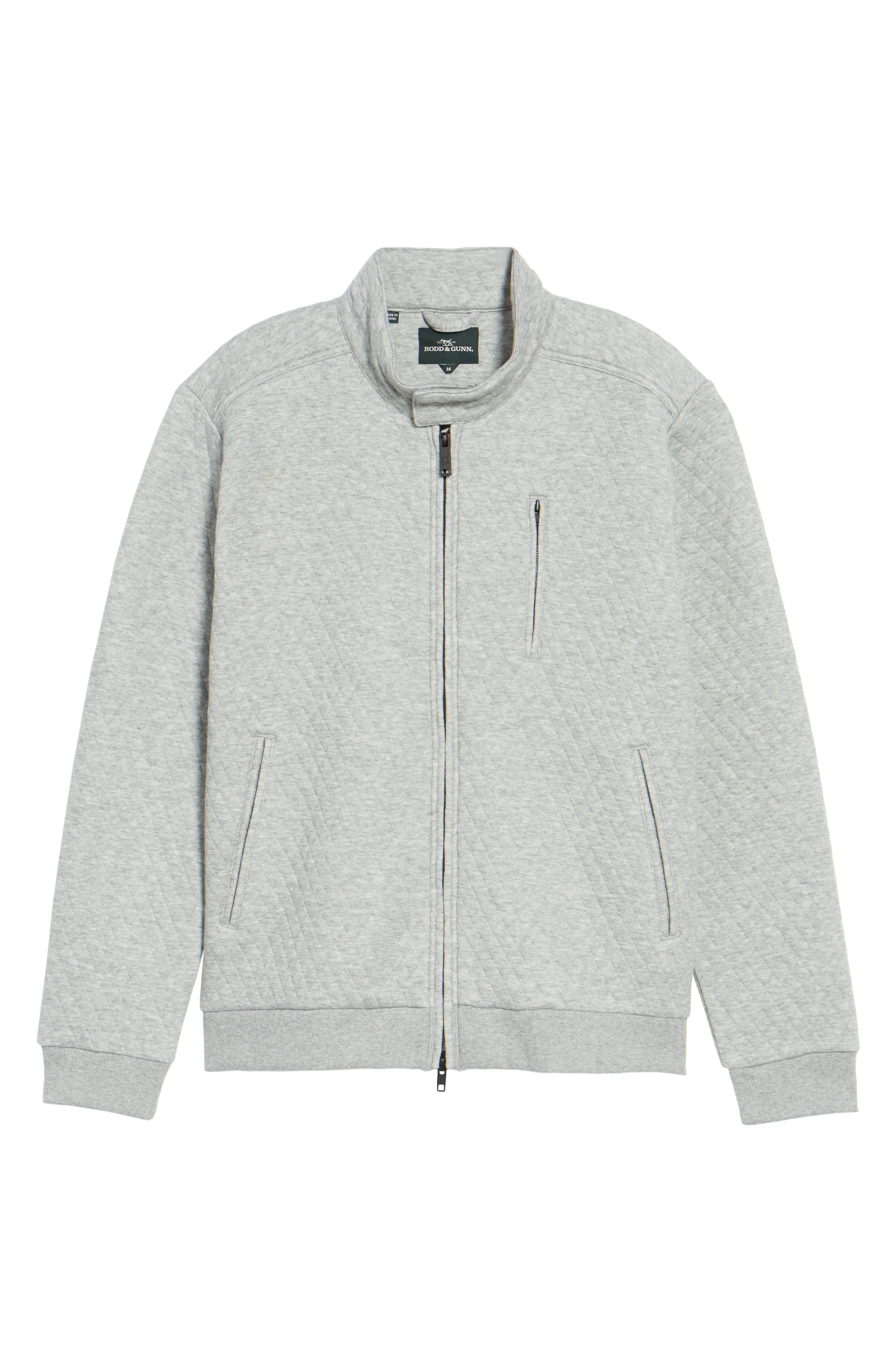 RODD & GUNN, Skipjack Pass Quilted Fleece Jacket, Alternate thumbnail 6, color, ASH