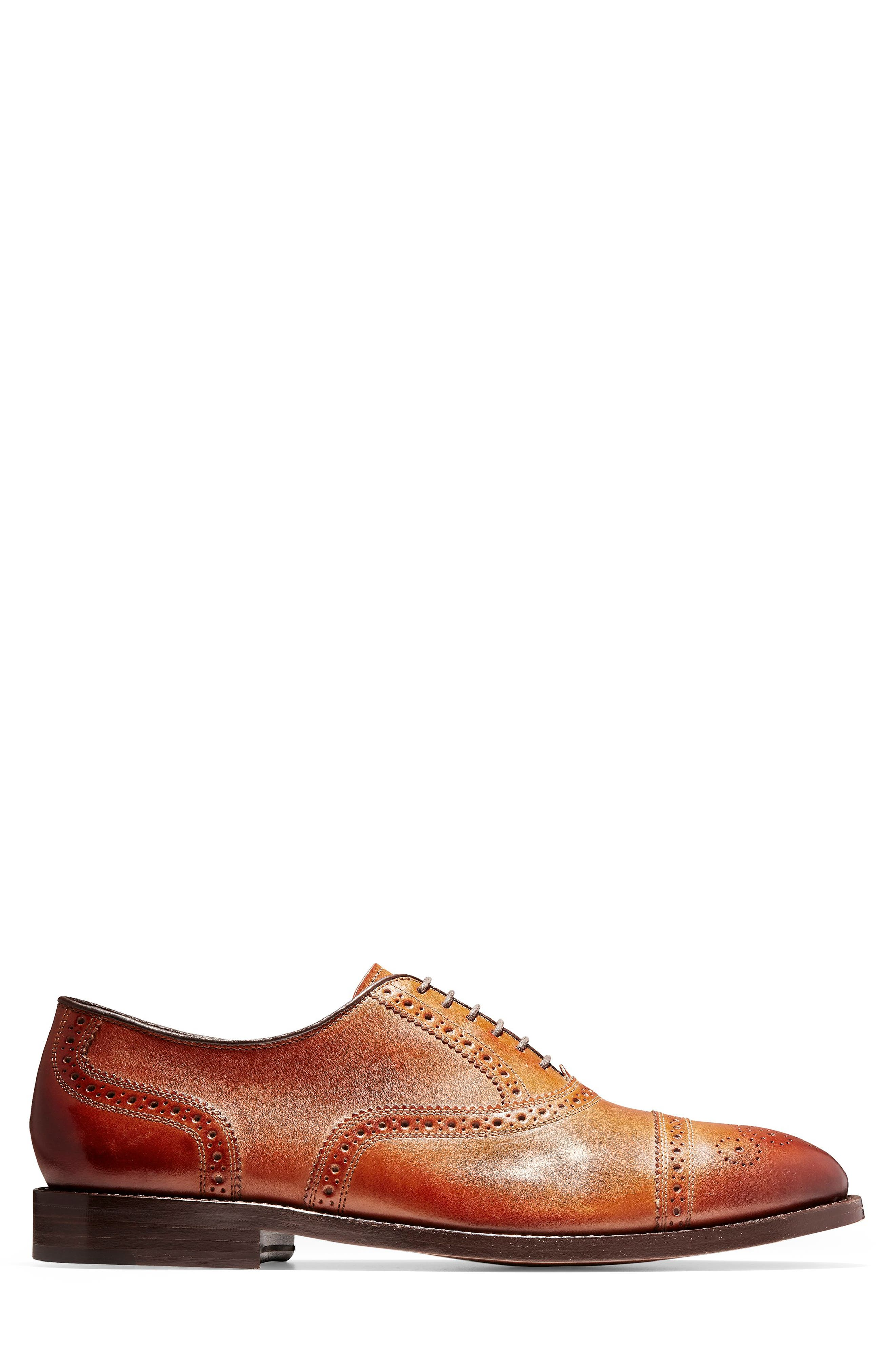 COLE HAAN, American Classics Kneeland Cap Toe Oxford, Alternate thumbnail 3, color, BRITISH TAN LEATHER
