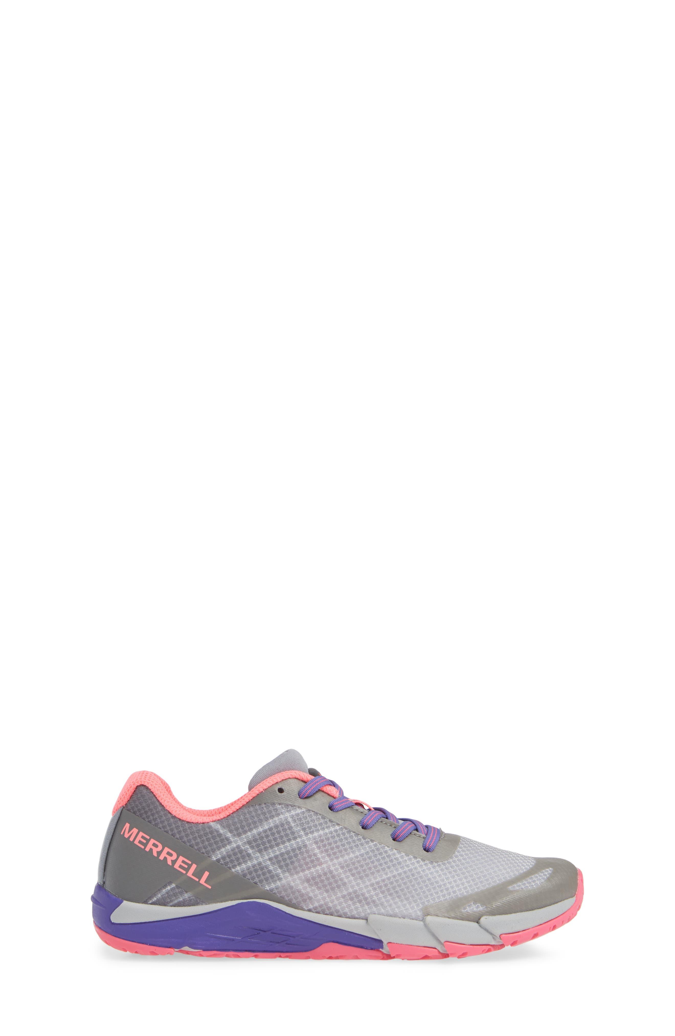 MERRELL, Bare Access Sneaker, Alternate thumbnail 3, color, GREY/ MULTI SYNTHETIC