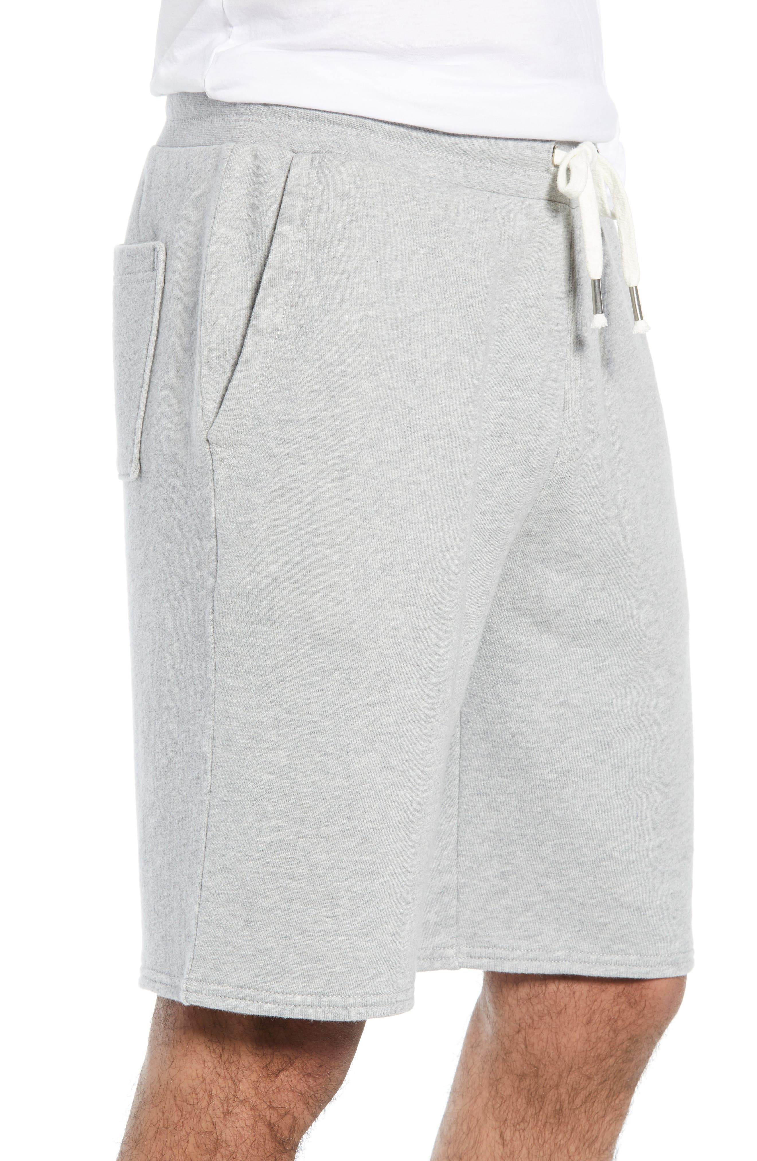THE RAIL, Heathered Athletic Shorts, Alternate thumbnail 3, color, 050