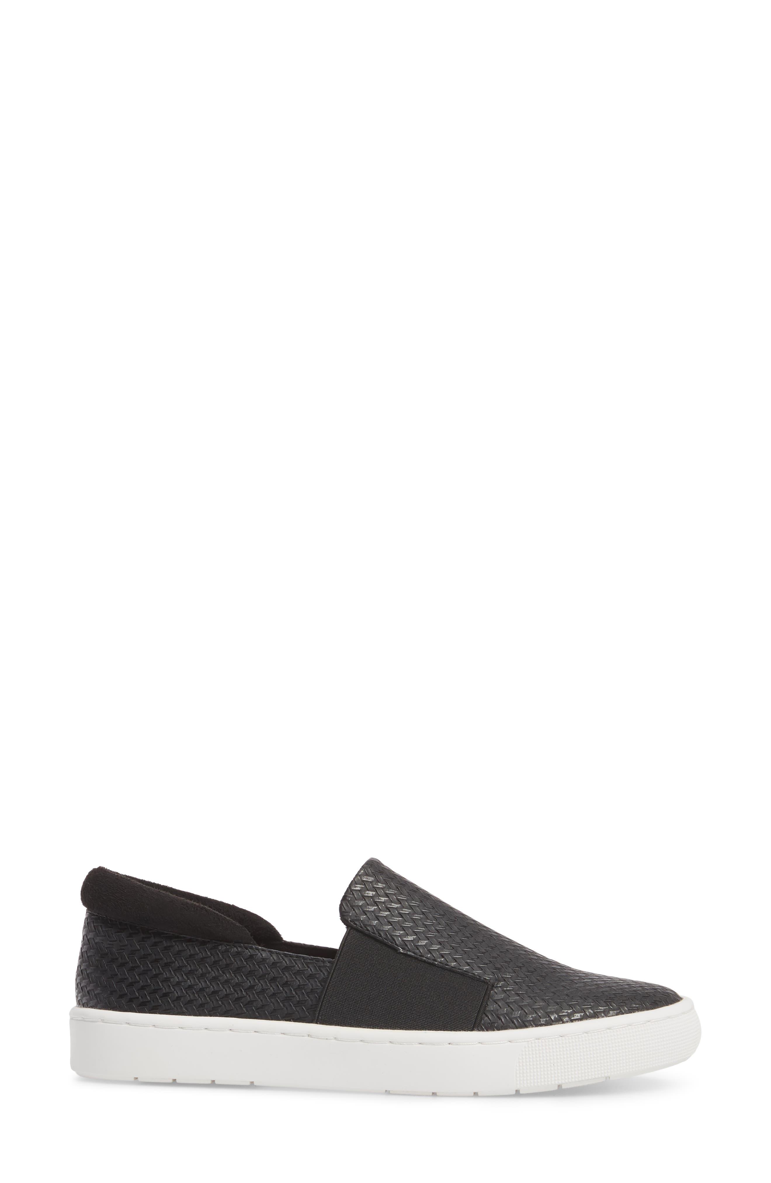 BELLA VITA, Ramp II Slip-On Sneaker, Alternate thumbnail 3, color, BLACK FABRIC