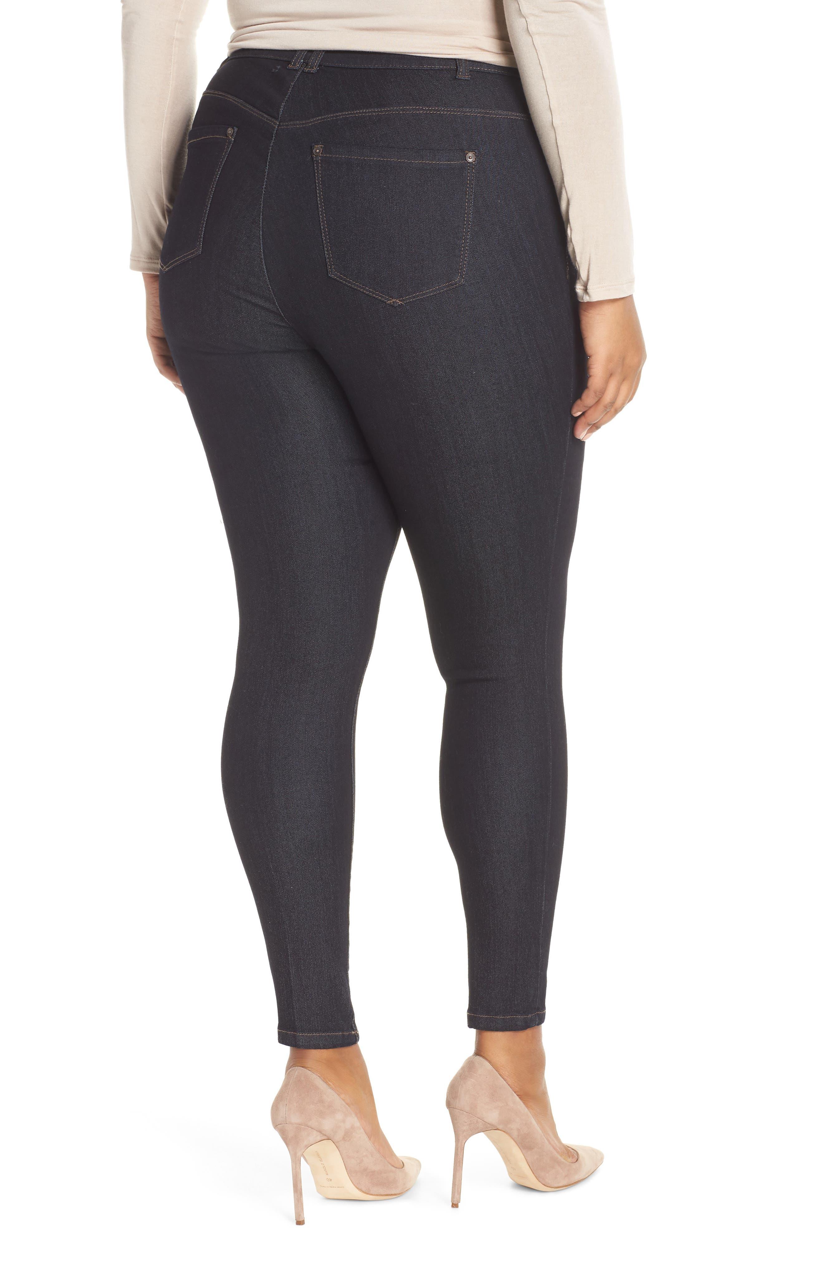 WIT & WISDOM, 30/11 Ab-solution High Waist Skinny Jeans, Alternate thumbnail 2, color, INDIGO
