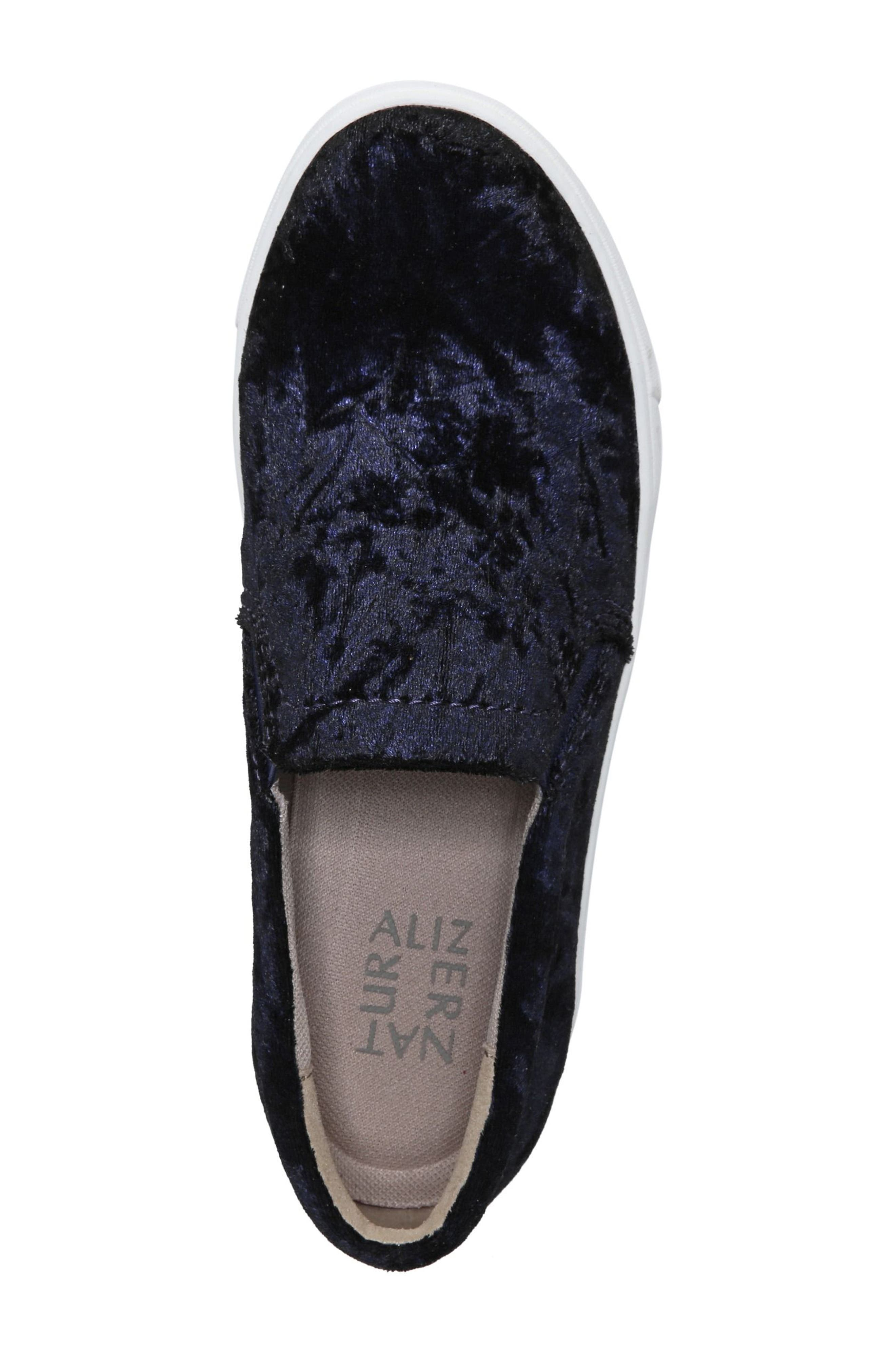 NATURALIZER, Marianne Slip-On Sneaker, Alternate thumbnail 4, color, NAVY VELVET