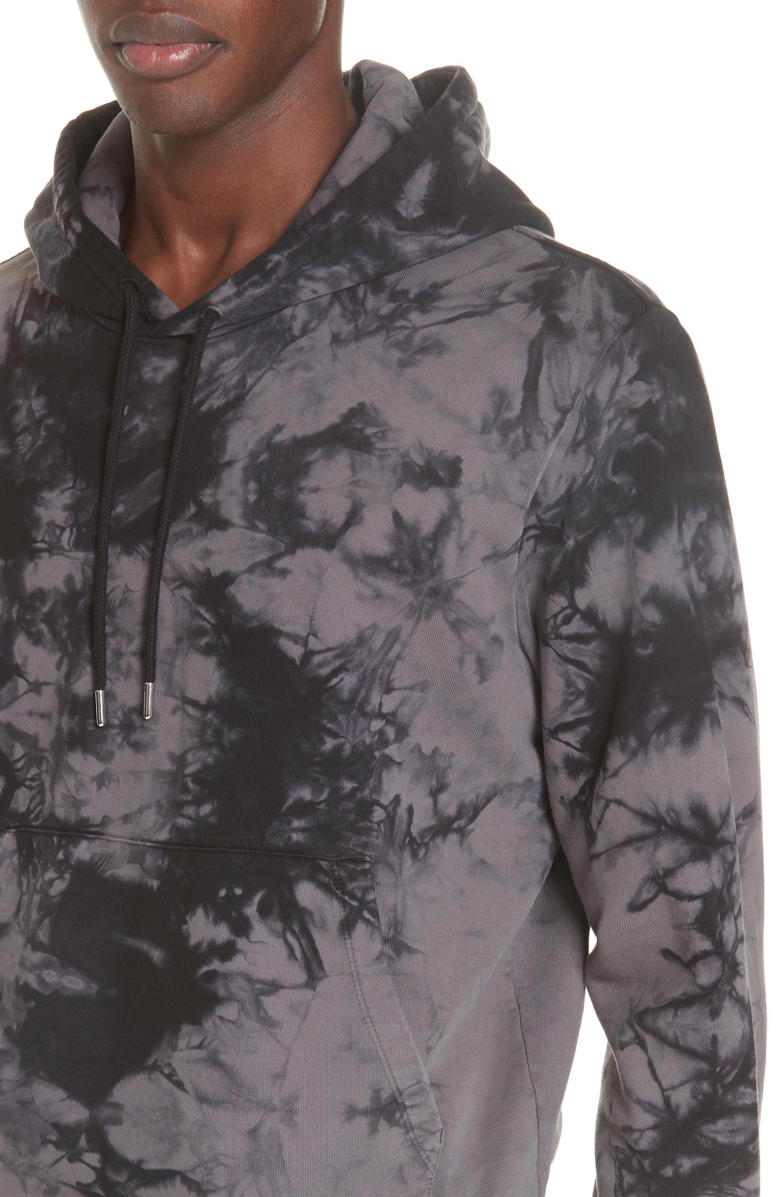 HELMUT LANG, Hooded Sweatshirt, Alternate thumbnail 4, color, 068