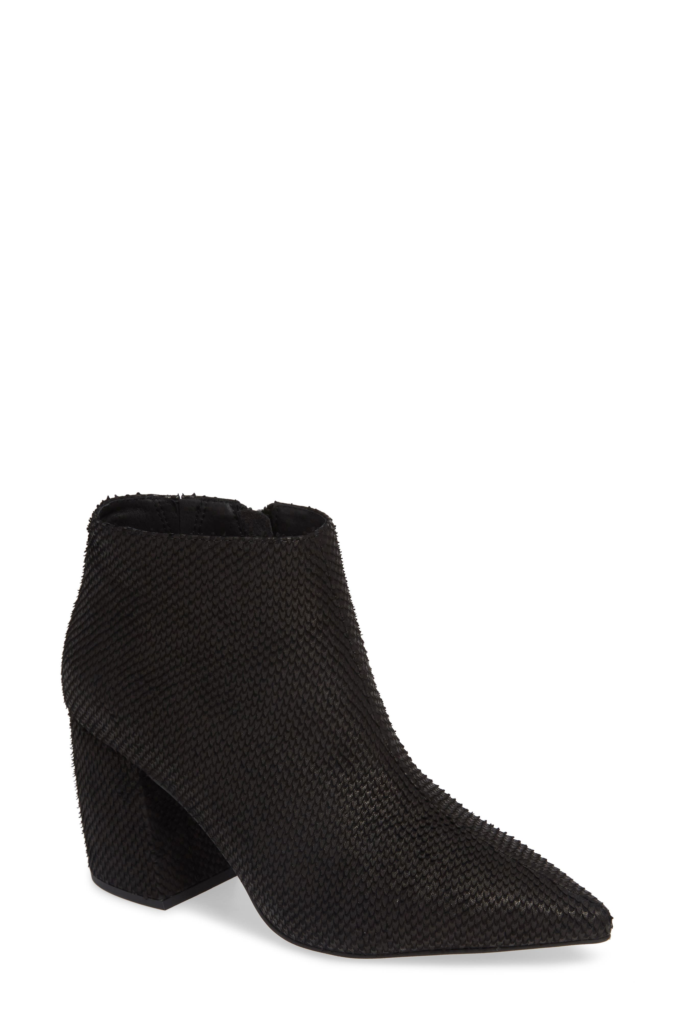 JEFFREY CAMPBELL, Total Ankle Bootie, Main thumbnail 1, color, BLACK SCALES