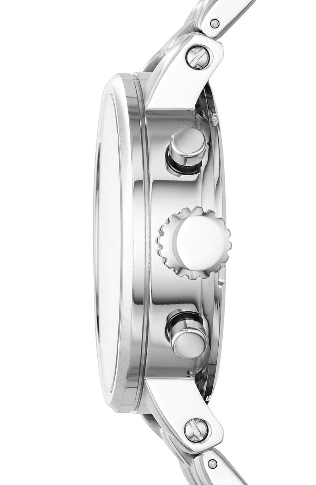 FOSSIL, 'Original Boyfriend' Chronograph Bracelet Watch, 38mm, Alternate thumbnail 5, color, 040