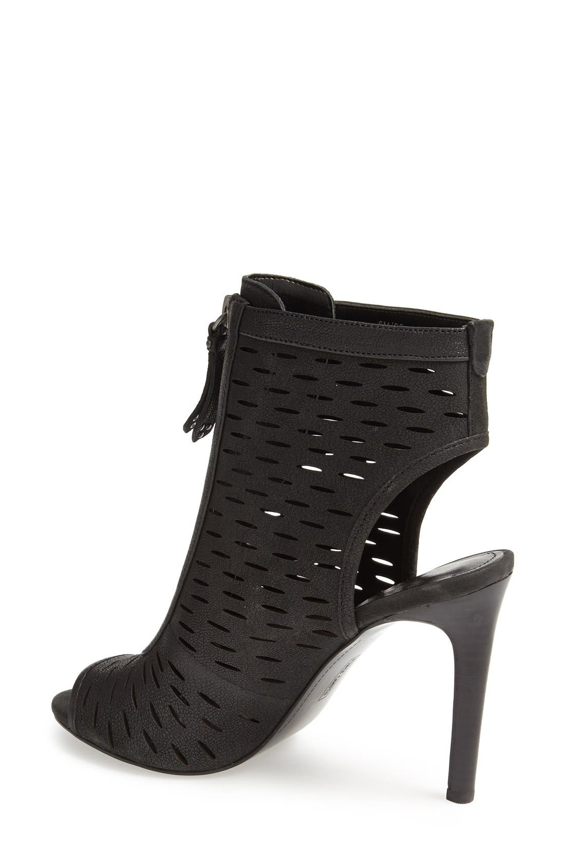 VINCE CAMUTO, 'Waver' Peep Toe Bootie, Alternate thumbnail 3, color, 001