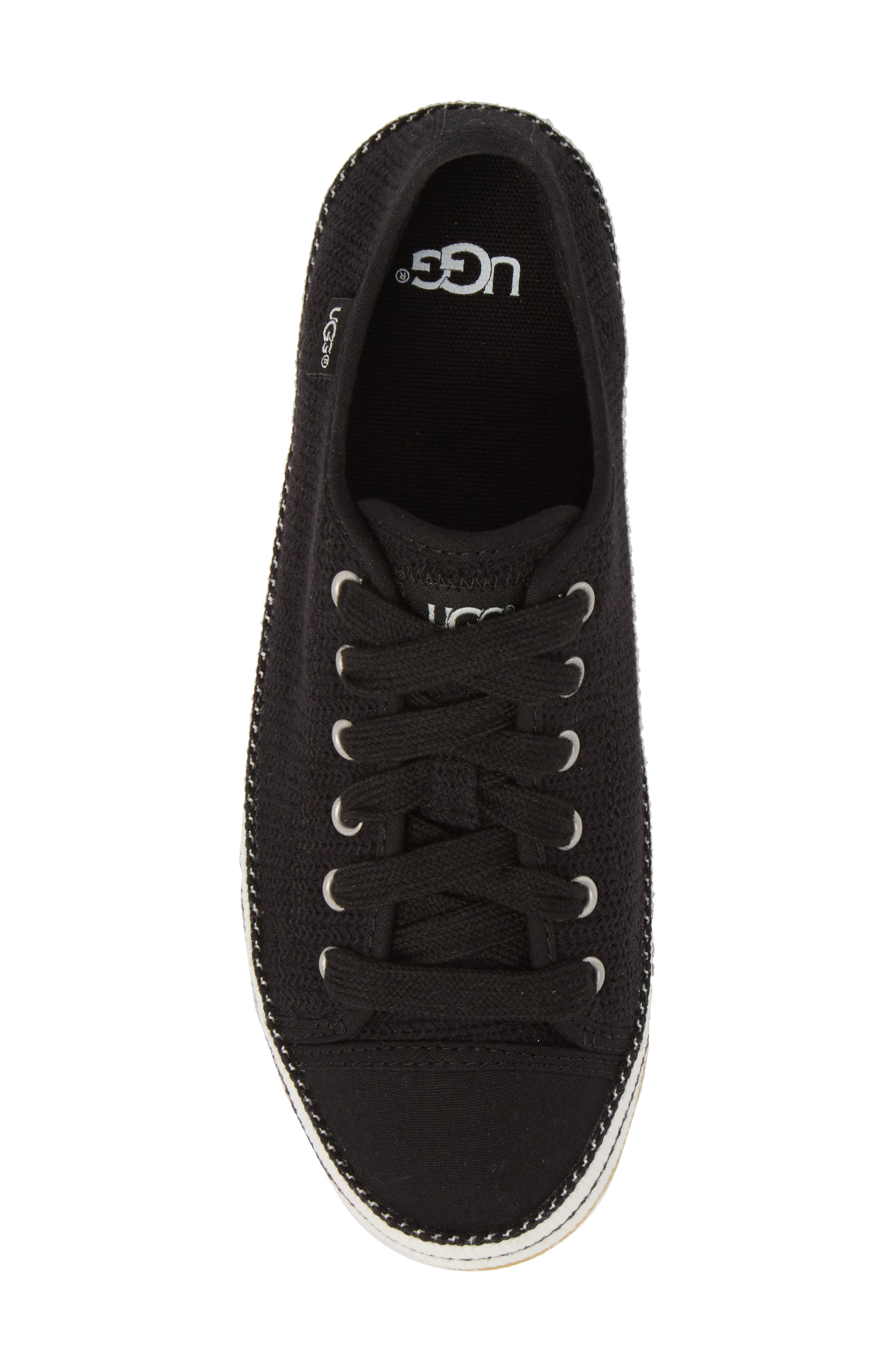 UGG<SUP>®</SUP>, Claudi Sneaker, Alternate thumbnail 5, color, BLACK