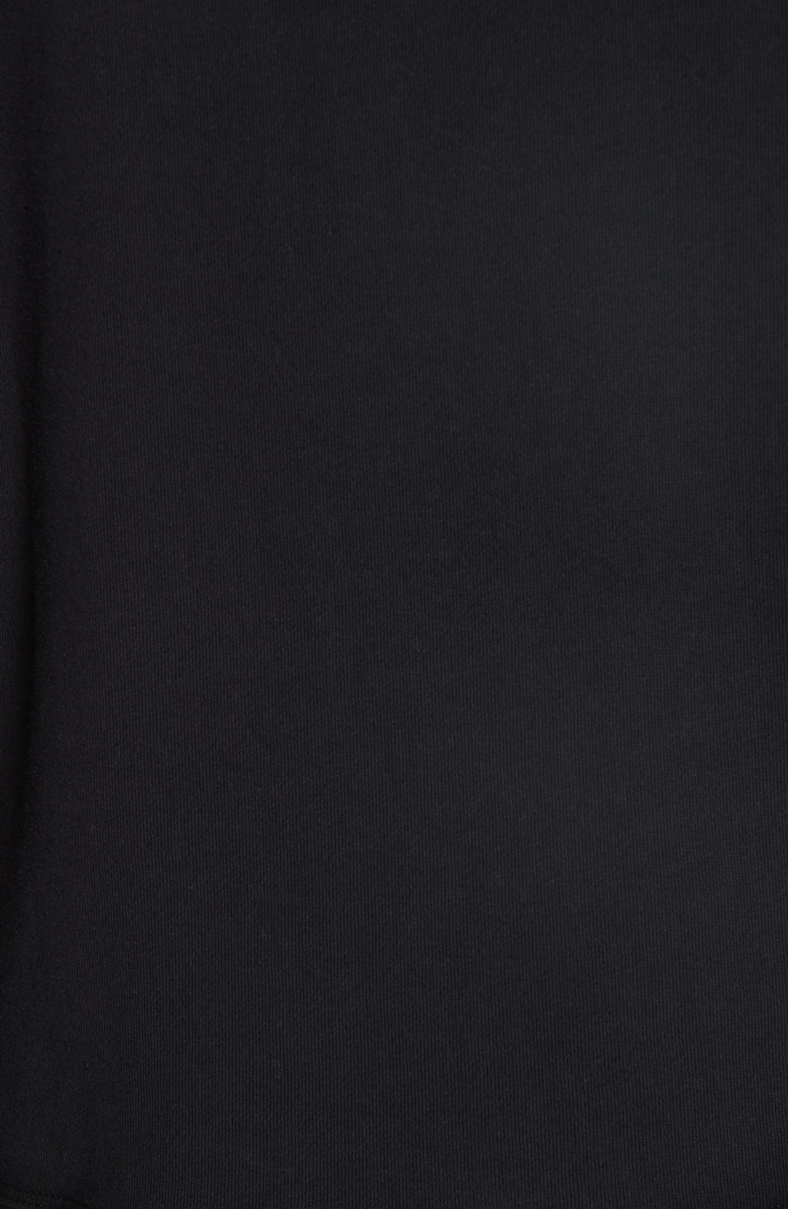 JOHN ELLIOTT, Hooded Villain Sweatshirt, Alternate thumbnail 5, color, BLACK