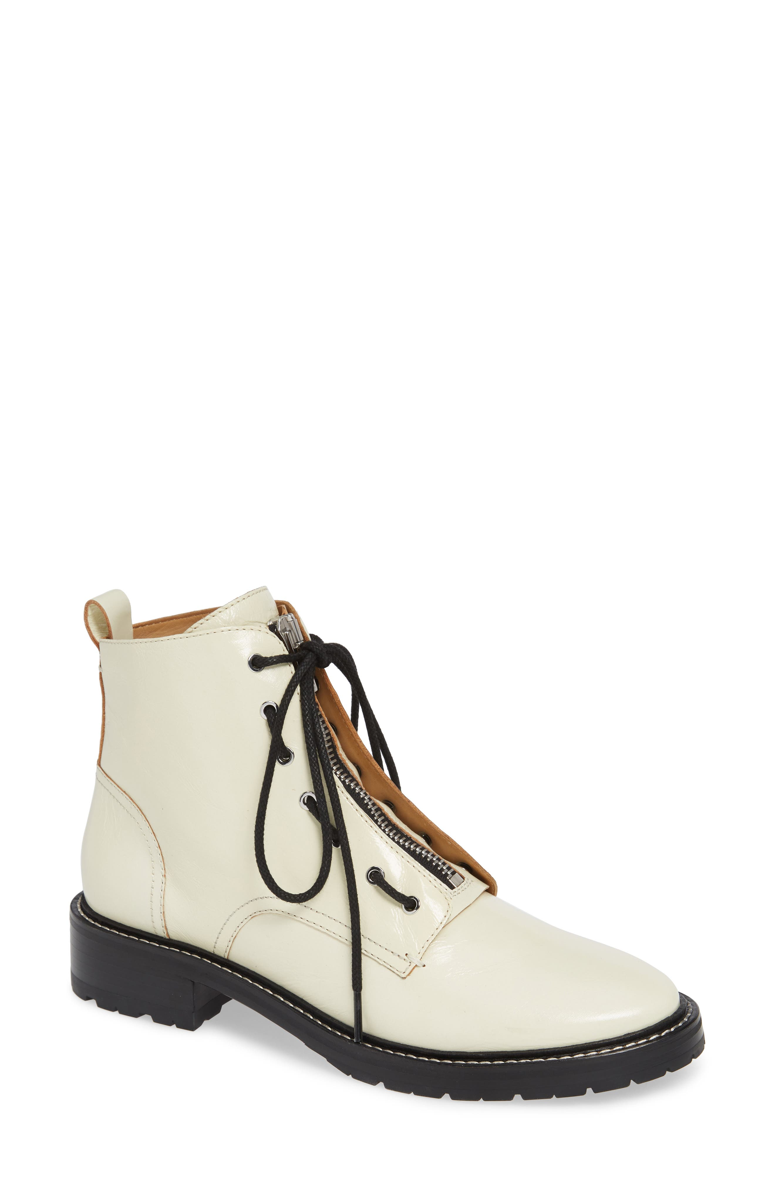 Rag & Bone Cannon Removable Zipper Boot - White