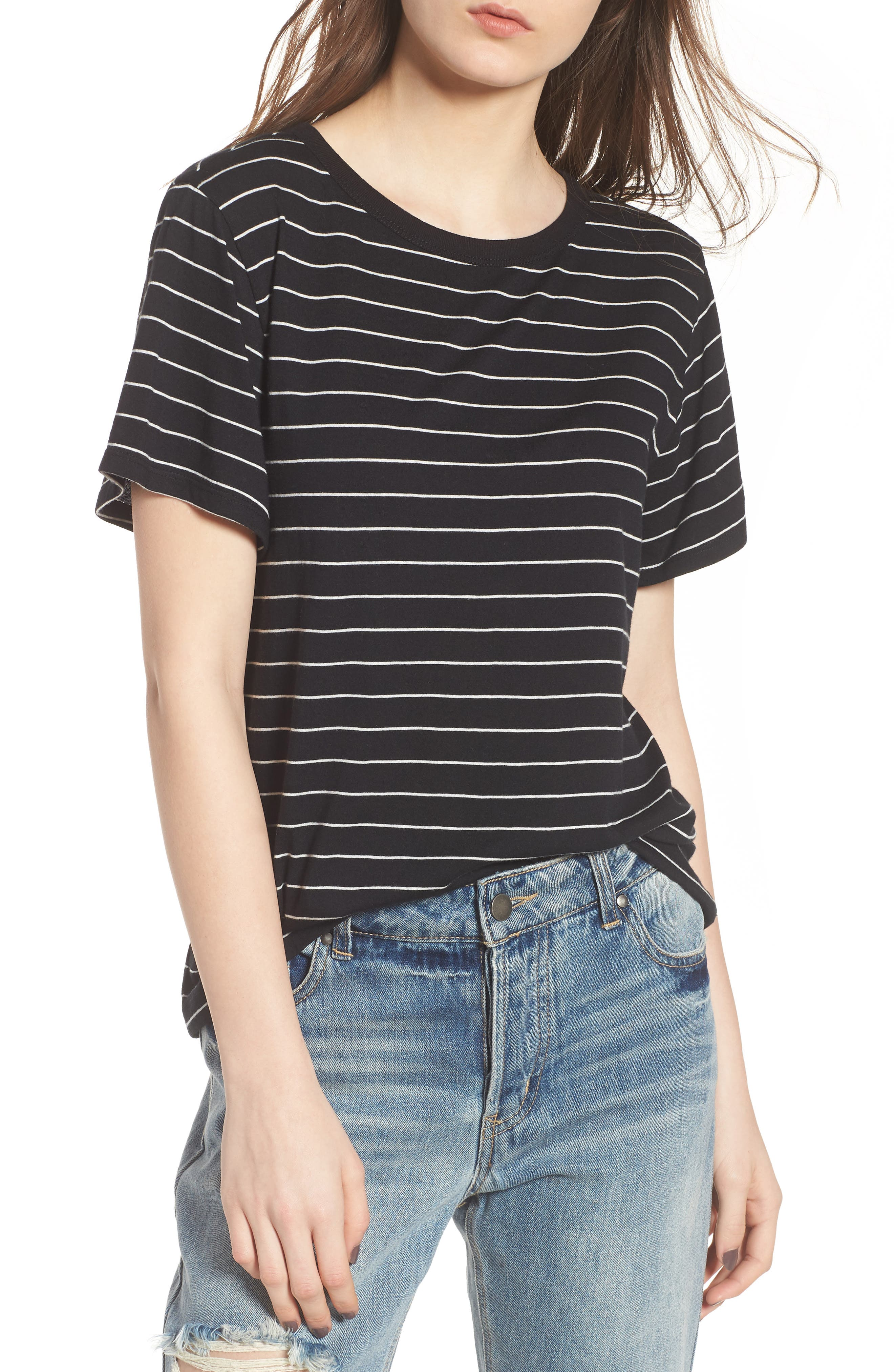 BP. Twist Back Tee, Main, color, 001