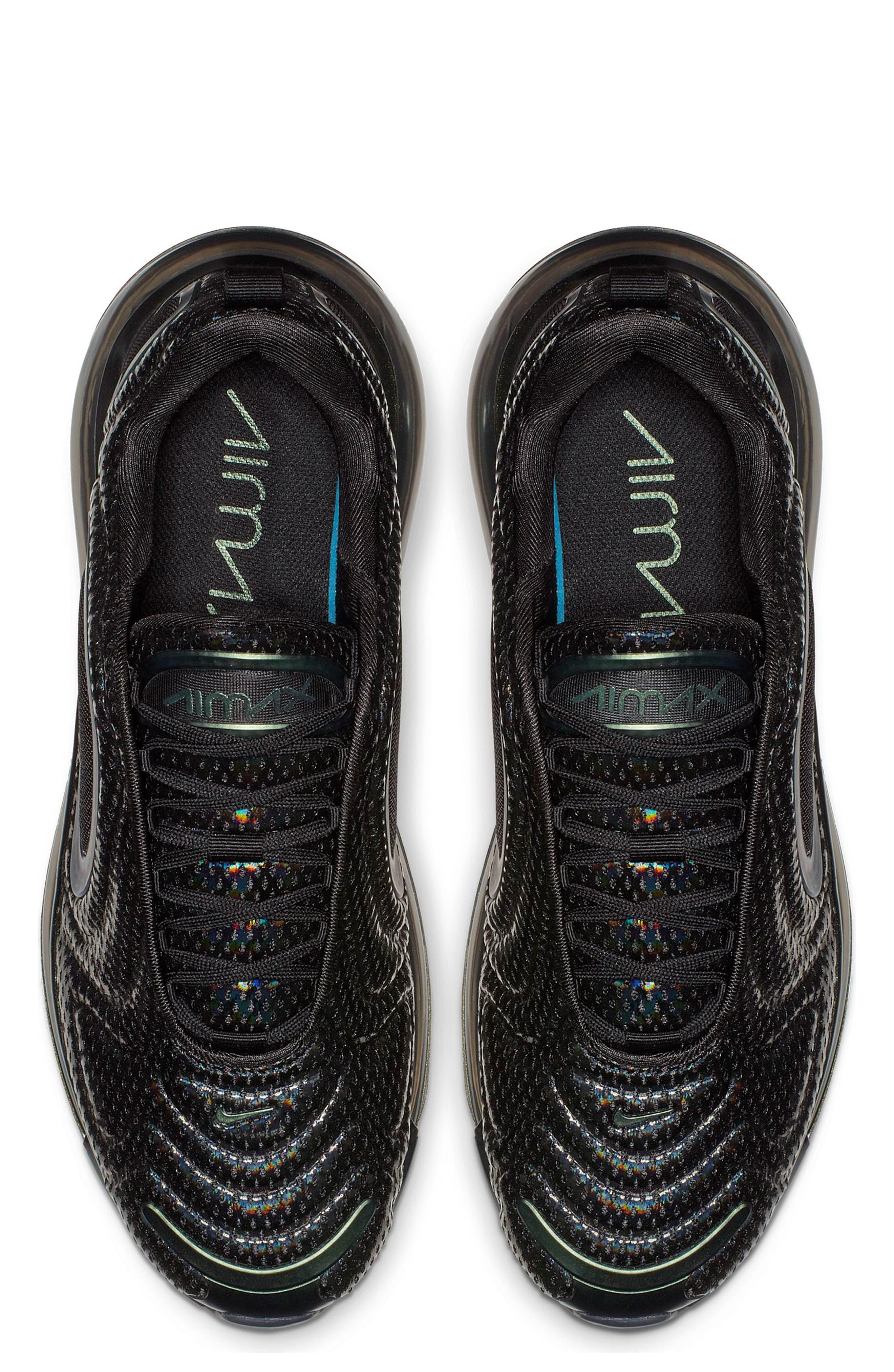 NIKE, Air Max 720 Sneaker, Alternate thumbnail 4, color, BLACK/ FUCHSIA/ ANTHRACITE