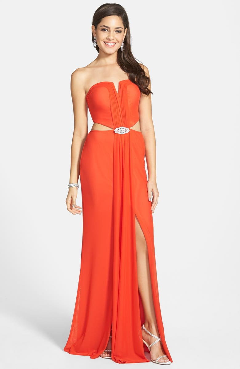 6a67128ce63 Hailey Logan Embellished Cutout Gown (Juniors)