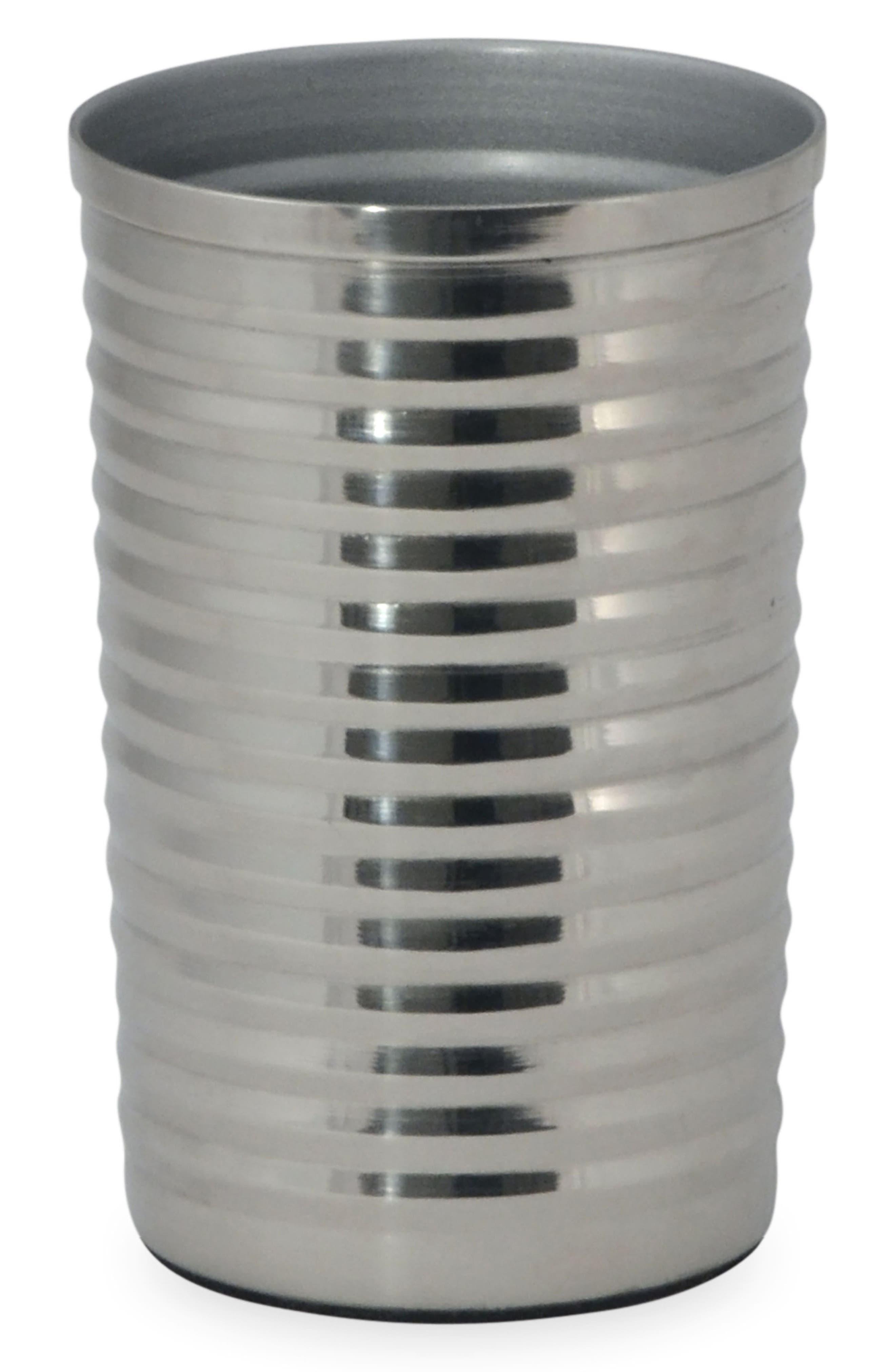 DKNY, Corrugated Tumbler, Main thumbnail 1, color, SILVER