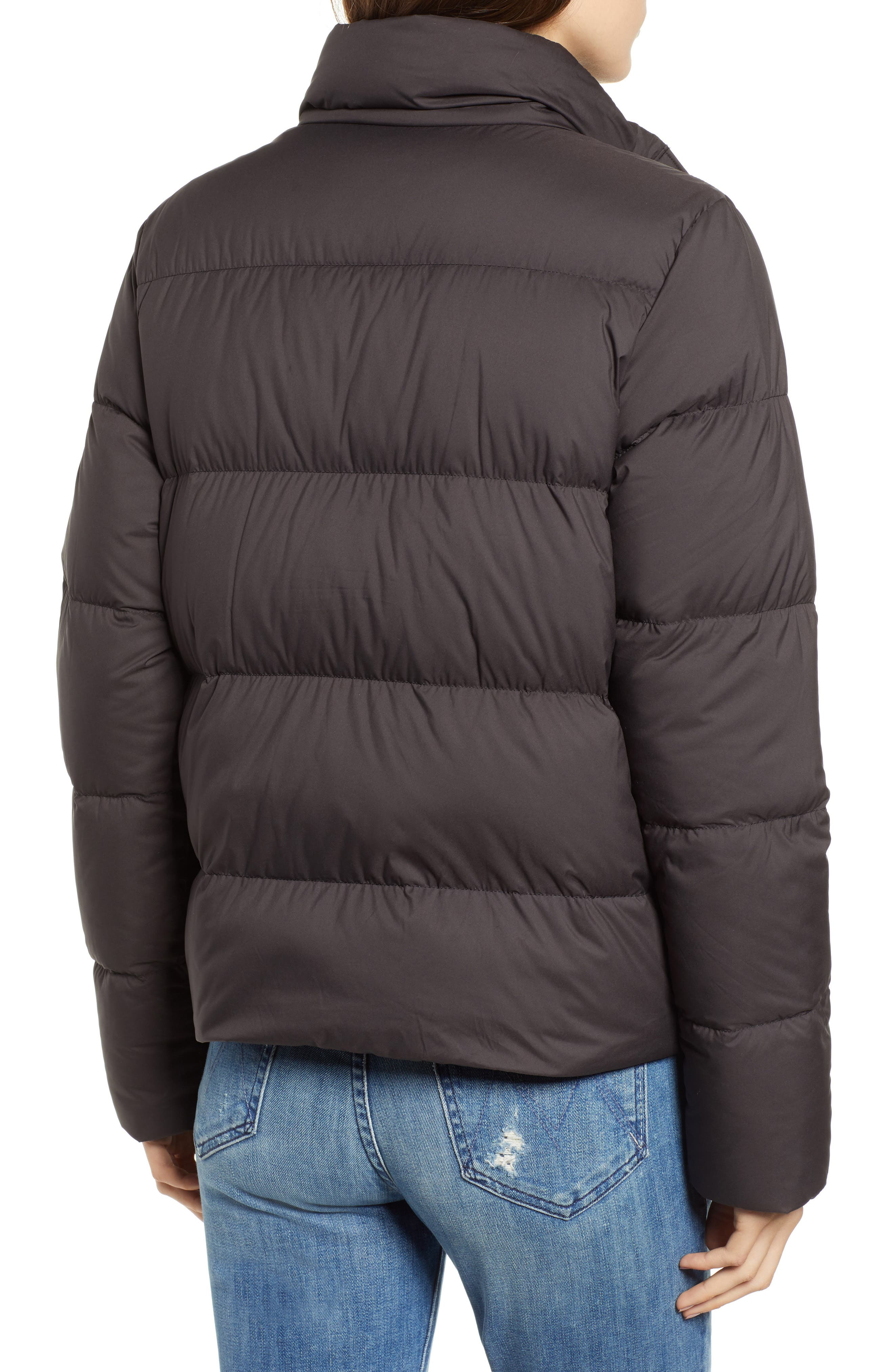 PATAGONIA, Silent Water Repellent 700-Fill Power Down Insulated Jacket, Alternate thumbnail 2, color, BLACK