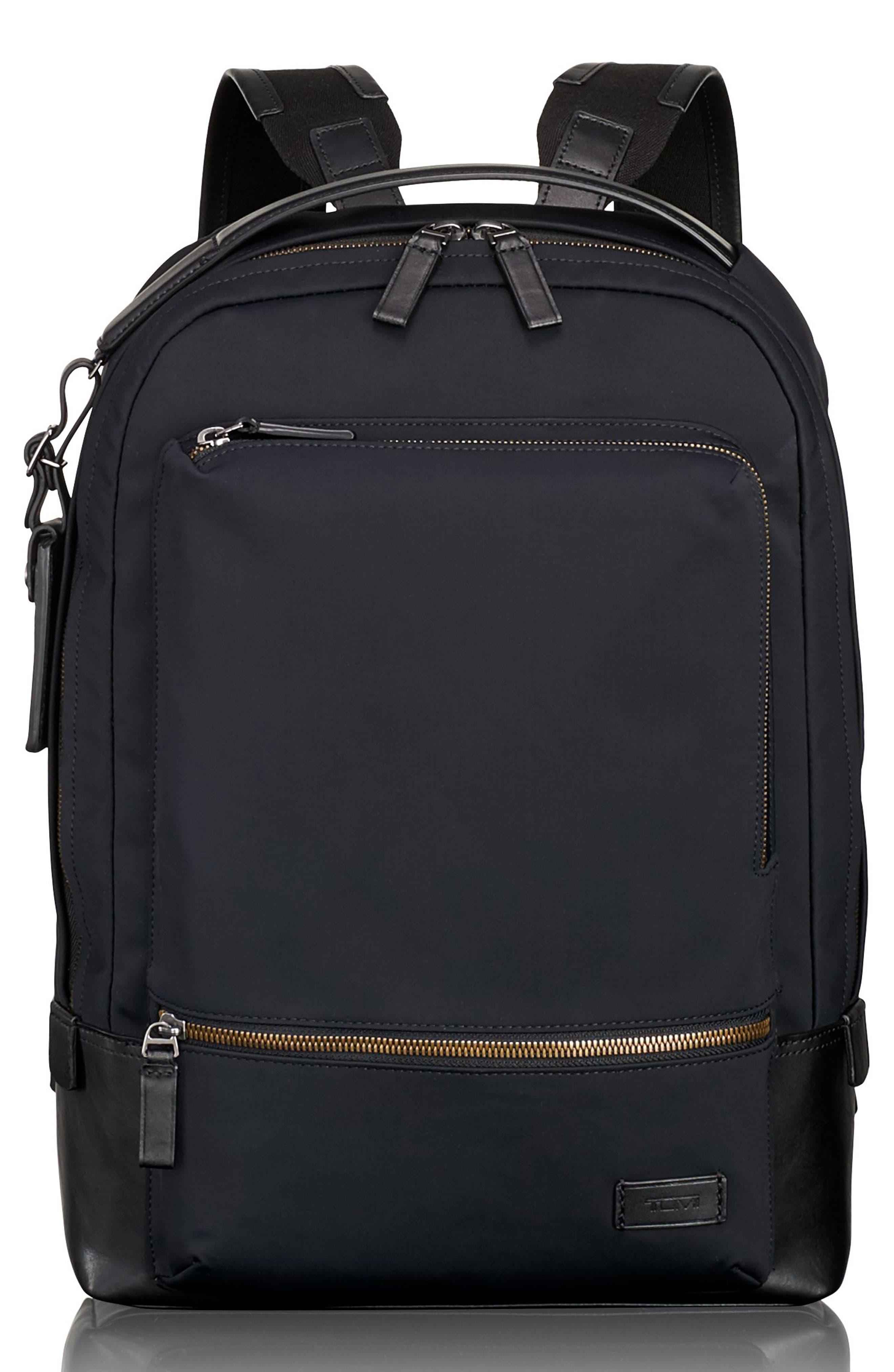 TUMI, Harrison Bates Backpack, Main thumbnail 1, color, BLACK NYLON
