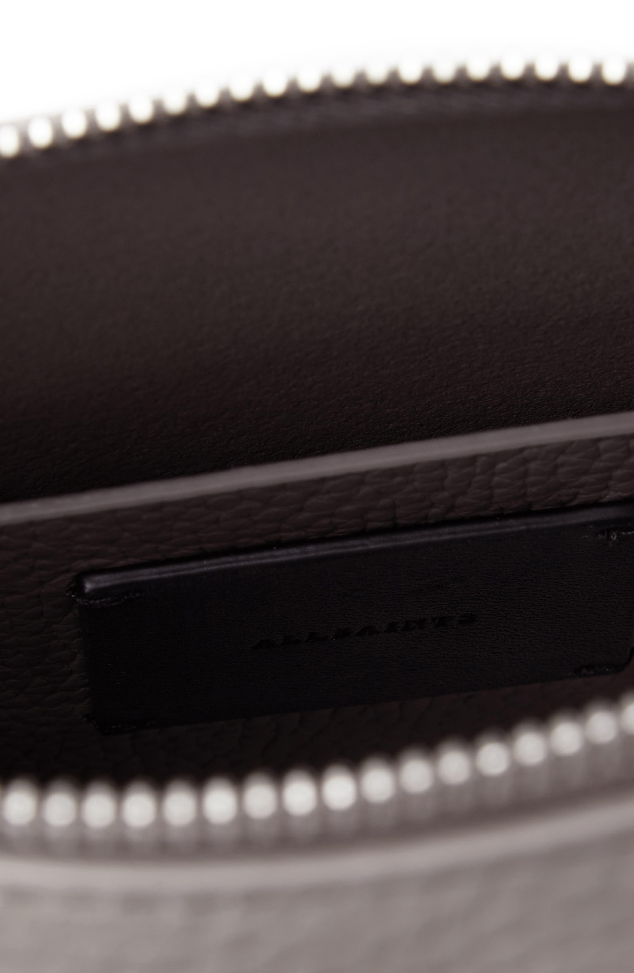 ALLSAINTS, 'Kita' Leather Shoulder/Crossbody Bag, Alternate thumbnail 4, color, STORM GREY