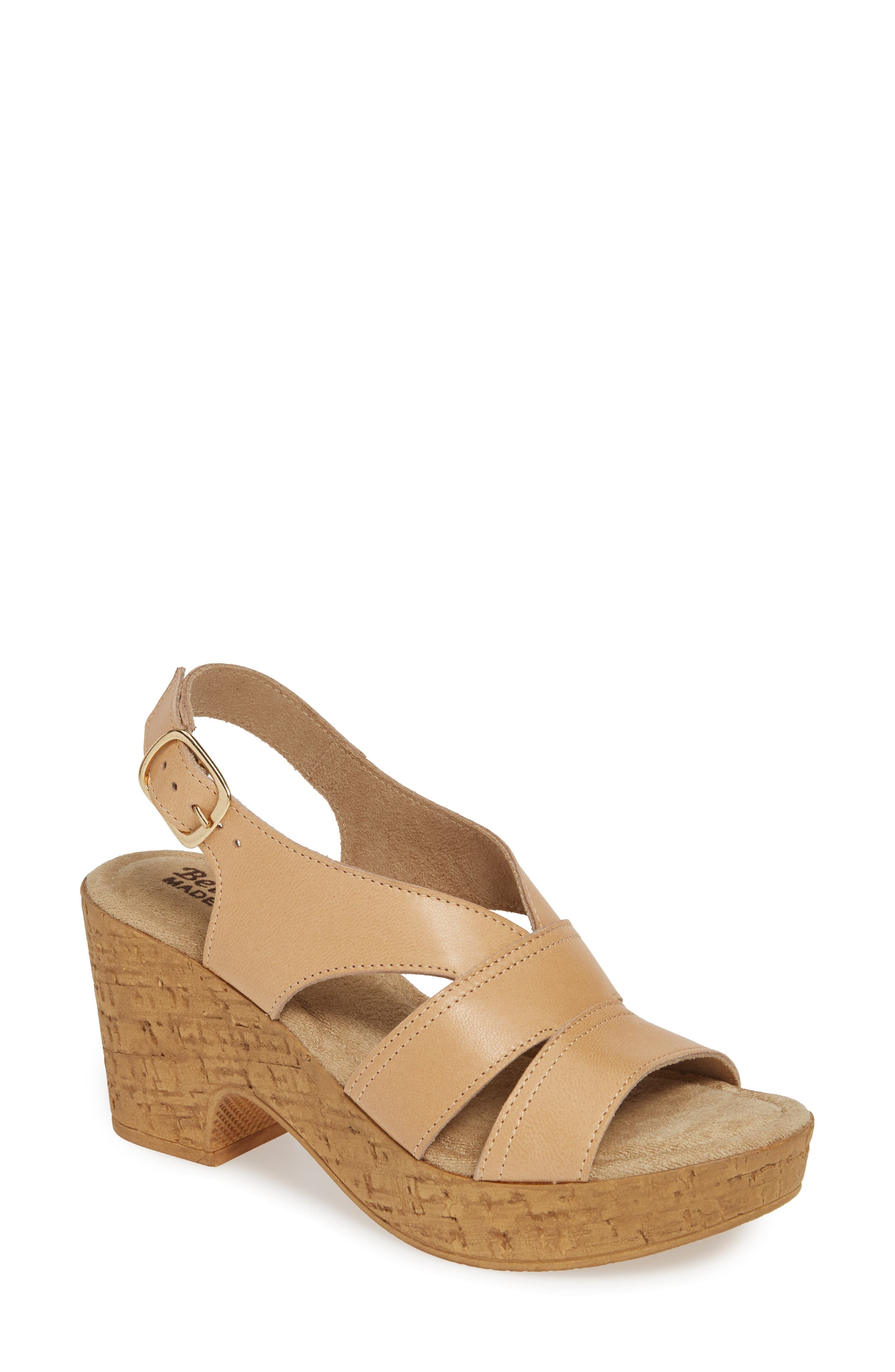 Bella Vita Jaz Platform Sandal, Beige