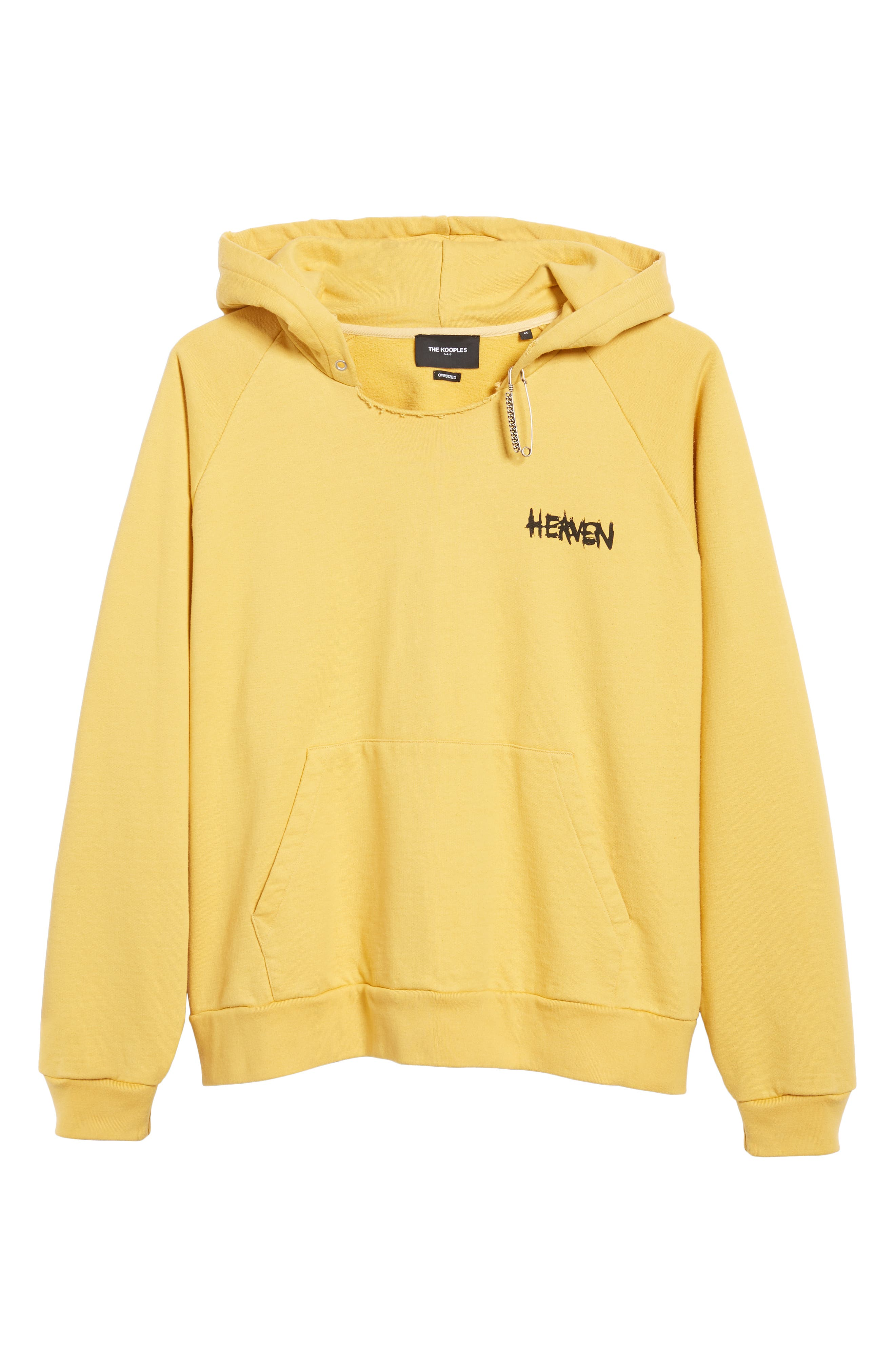 THE KOOPLES, Oversize Hoodie, Alternate thumbnail 6, color, YELLOW