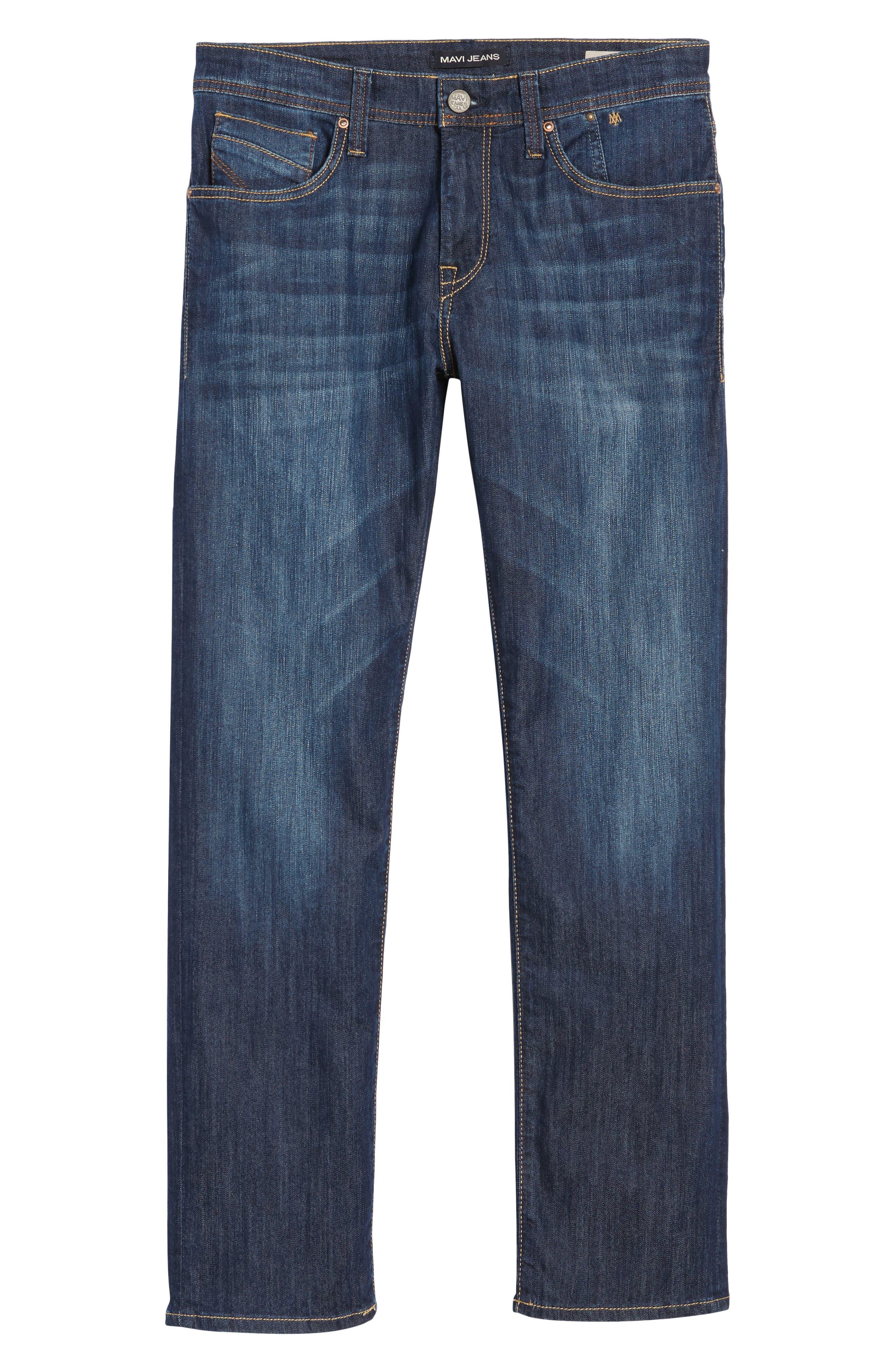 MAVI JEANS, Zach Straight Leg Jeans, Alternate thumbnail 7, color, DARK MAUI