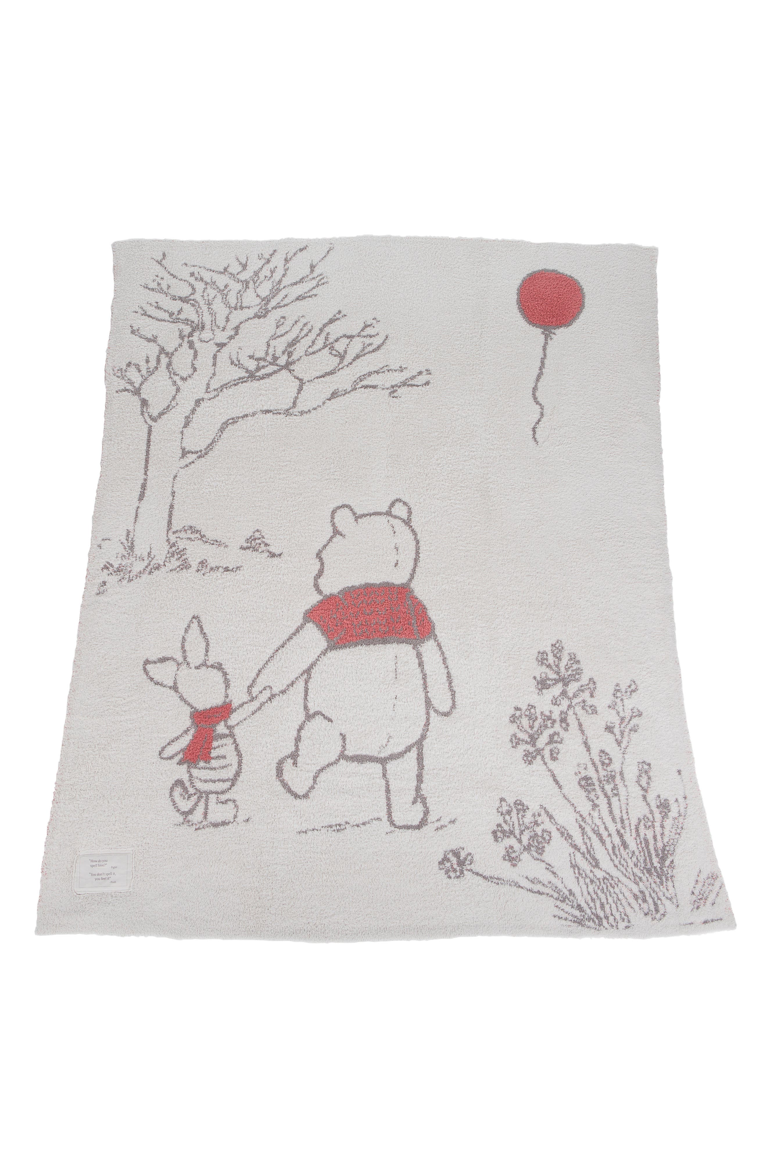 BAREFOOT DREAMS<SUP>®</SUP>, CozyChic<sup>™</sup> Disney Winnie the Pooh Throw, Main thumbnail 1, color, ALMOND MULTI