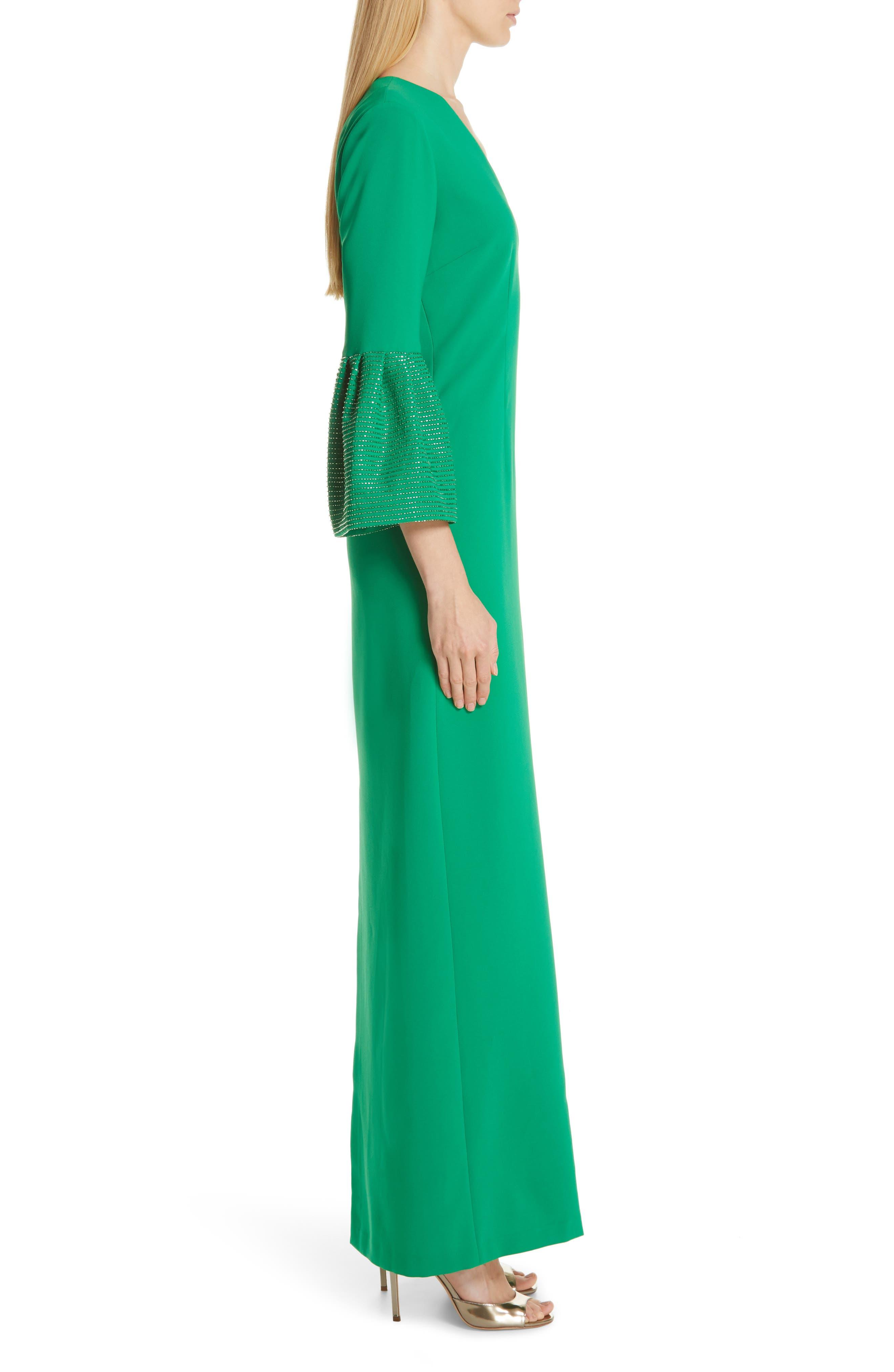 SACHIN & BABI, Tower Beaded Cuff Column Evening Dress, Alternate thumbnail 4, color, TOWER GREEN