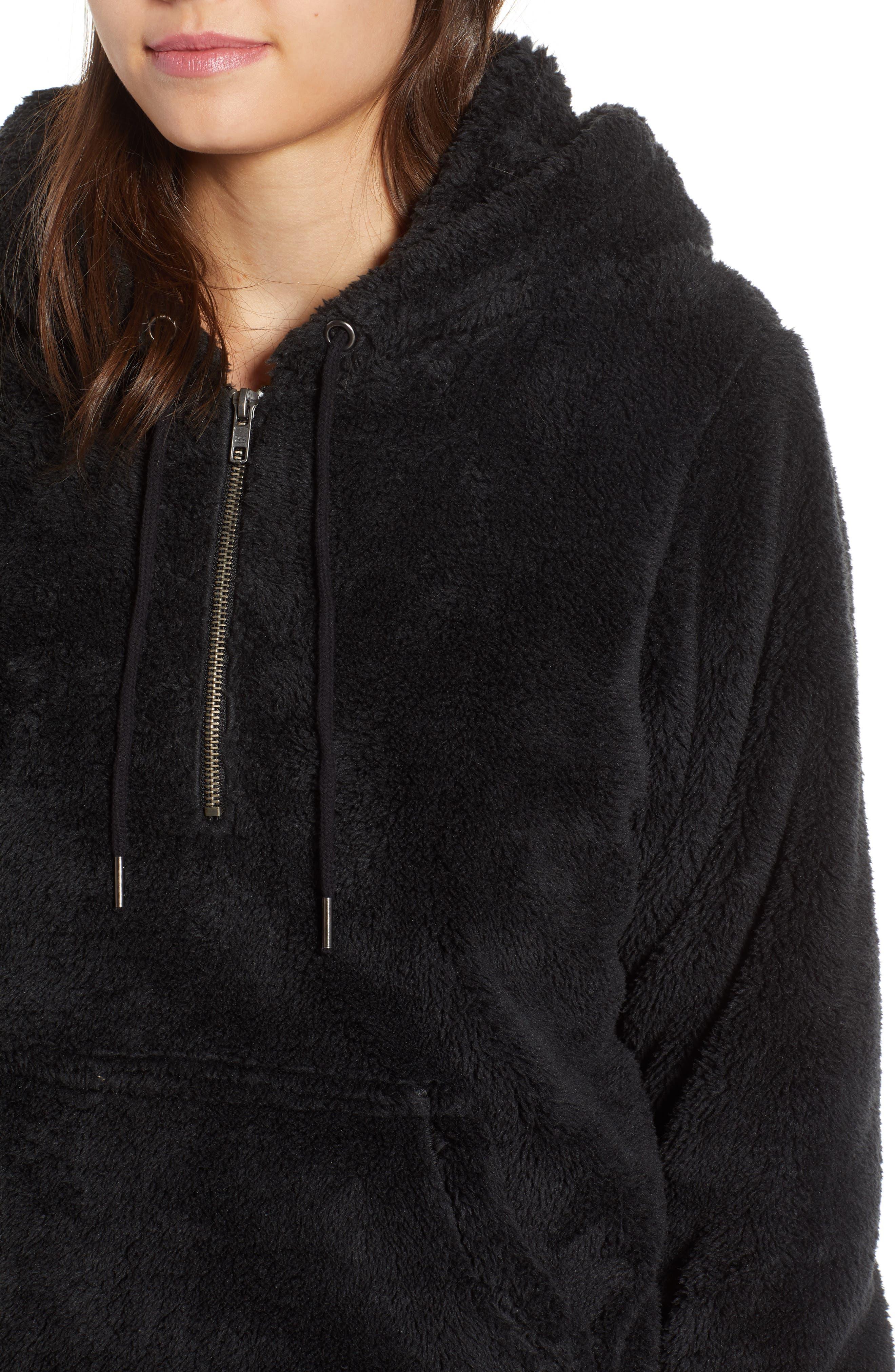 BILLABONG, Cozy For Keeps Fleece Pullover, Alternate thumbnail 5, color, 001