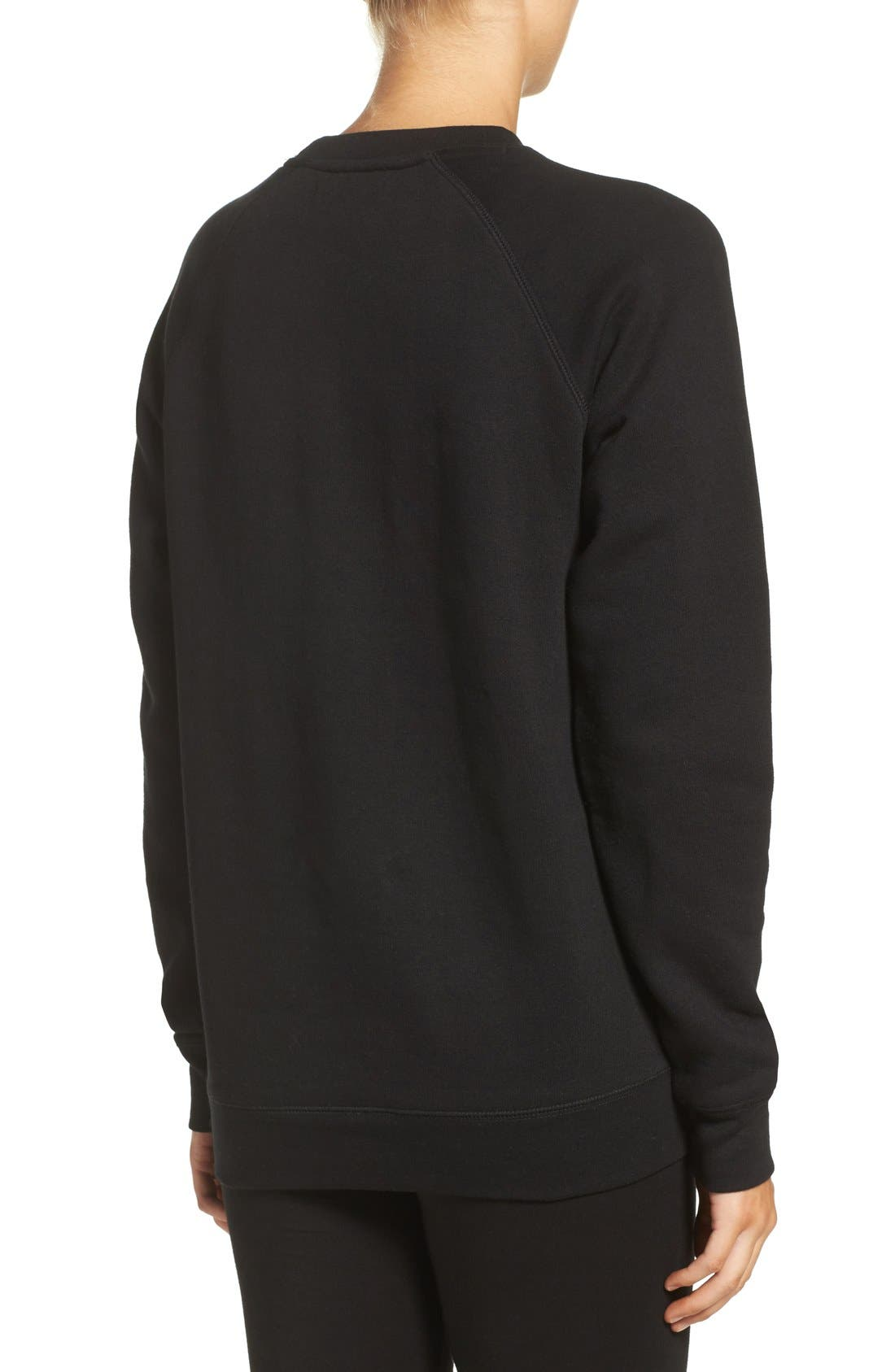 BRUNETTE THE LABEL, 'Babes Who Brunch' Crewneck Sweatshirt, Alternate thumbnail 2, color, 001