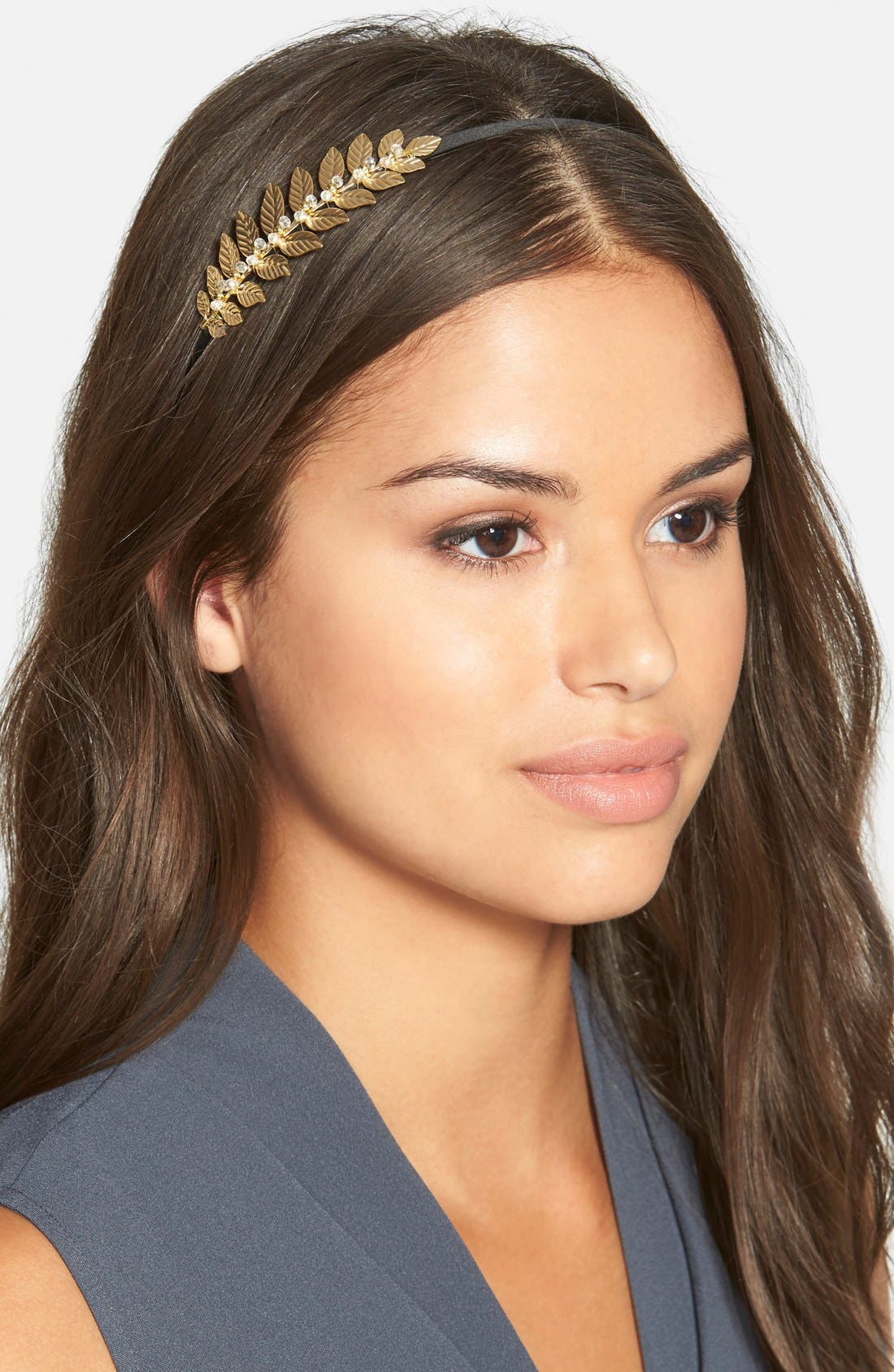 CARA 'Crystal Leaves' Headband, Main, color, 710